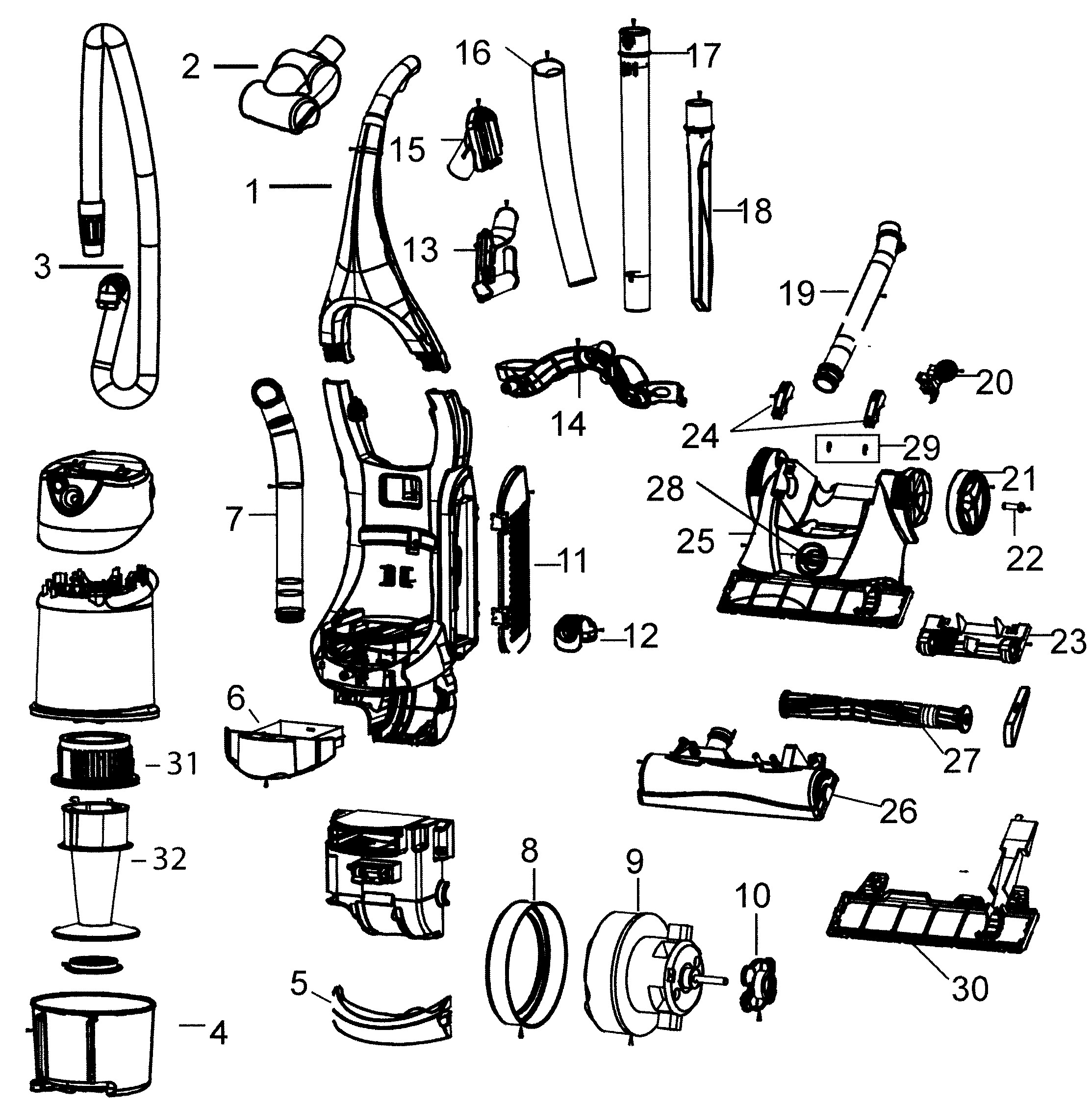 Dyson Dc24 Parts Diagram Vacuum Vacuum Parts Of Dyson Dc24 Parts Diagram