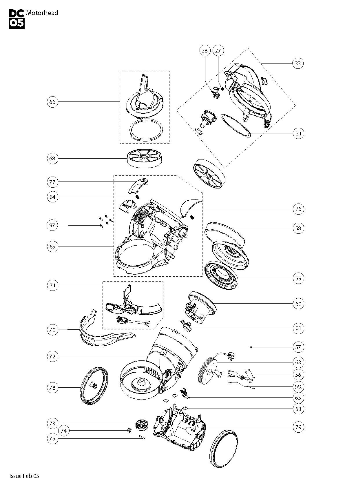 Dyson Vacuum Parts Diagram Dyson Dc08 Animal Spares Beautiful Of Dyson Vacuum Parts Diagram