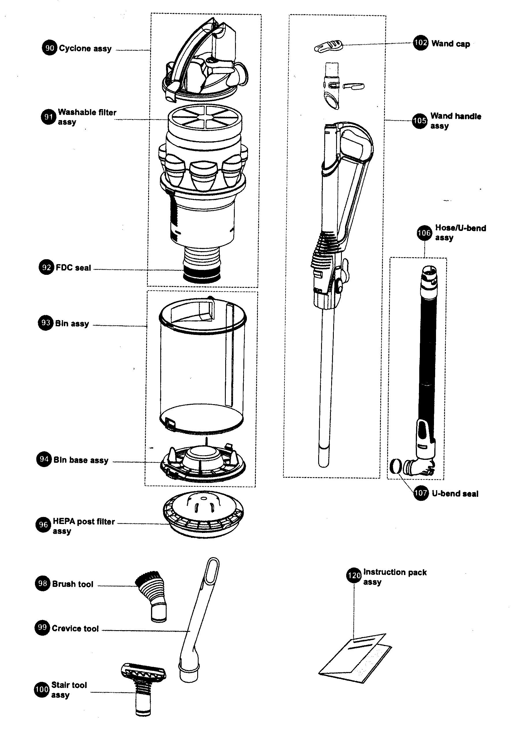 Dyson Vacuum Parts Diagram Vacuum Parts Vacuum Parts Diagram