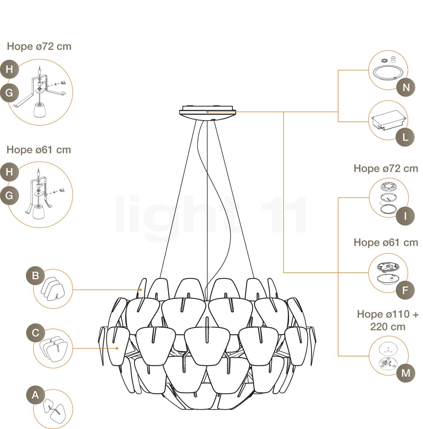 Floor Lamp Parts Diagram Buy Luceplan Spare Parts for Hope Pendant Light at Of Floor Lamp Parts Diagram