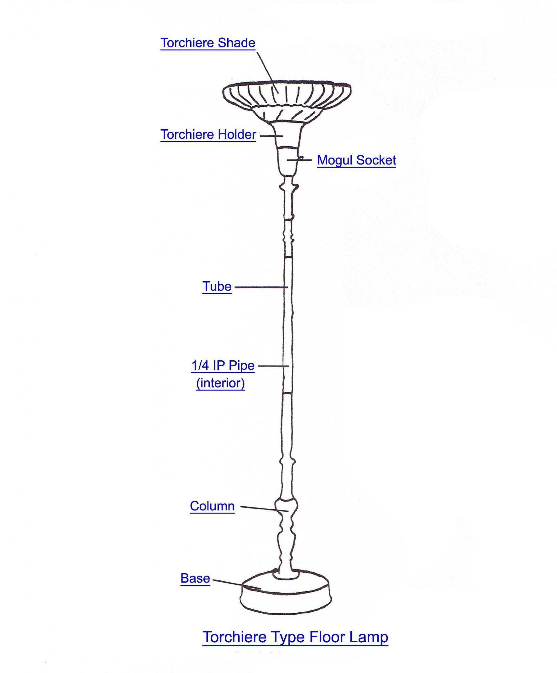 Floor Lamp Parts Diagram Floor Lamps Parts Of Floor Lamp Parts Diagram