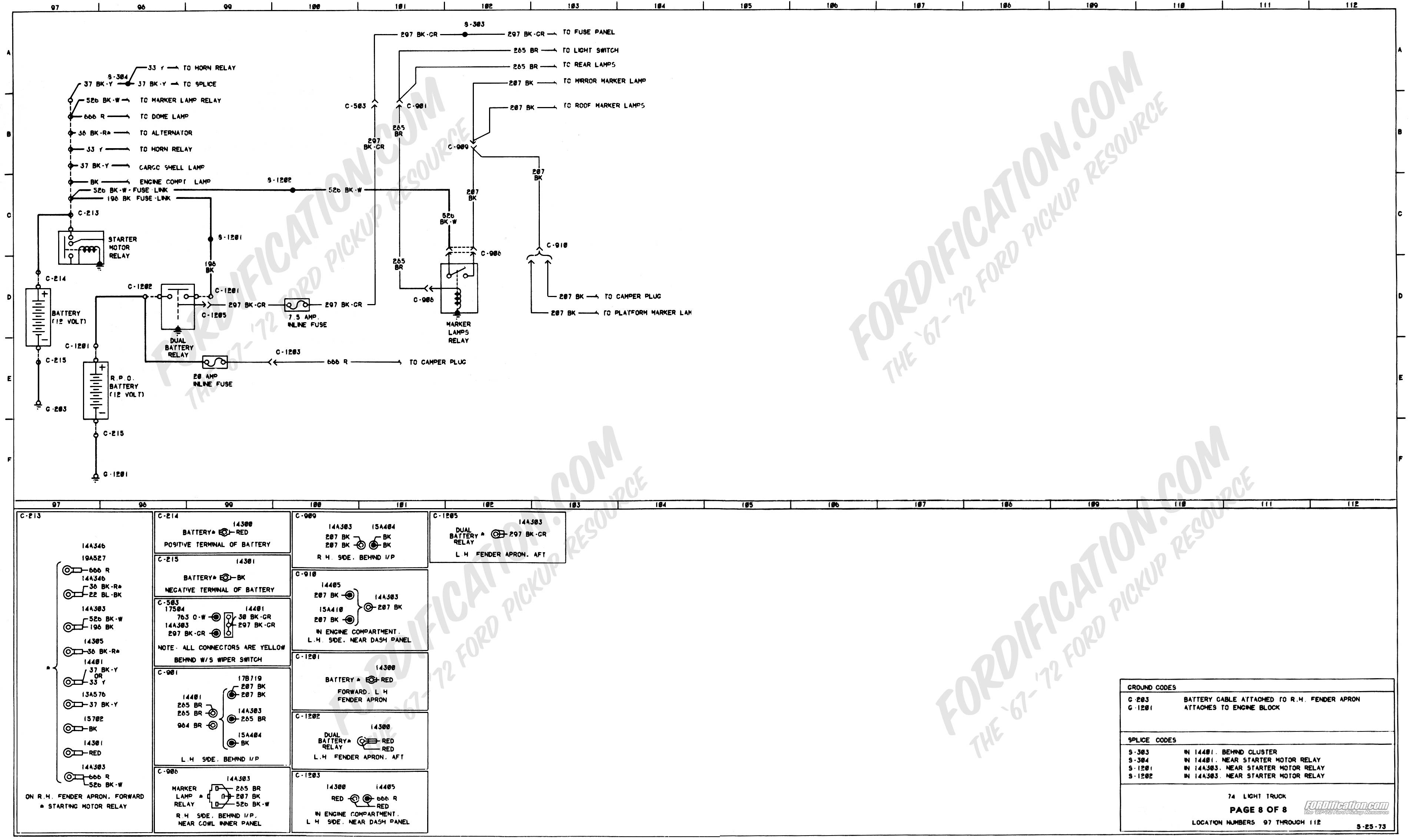 Ford Starter solenoid Wiring Diagram 1973 1979 ford Truck Wiring Diagrams & Schematics fordification Of Ford Starter solenoid Wiring Diagram