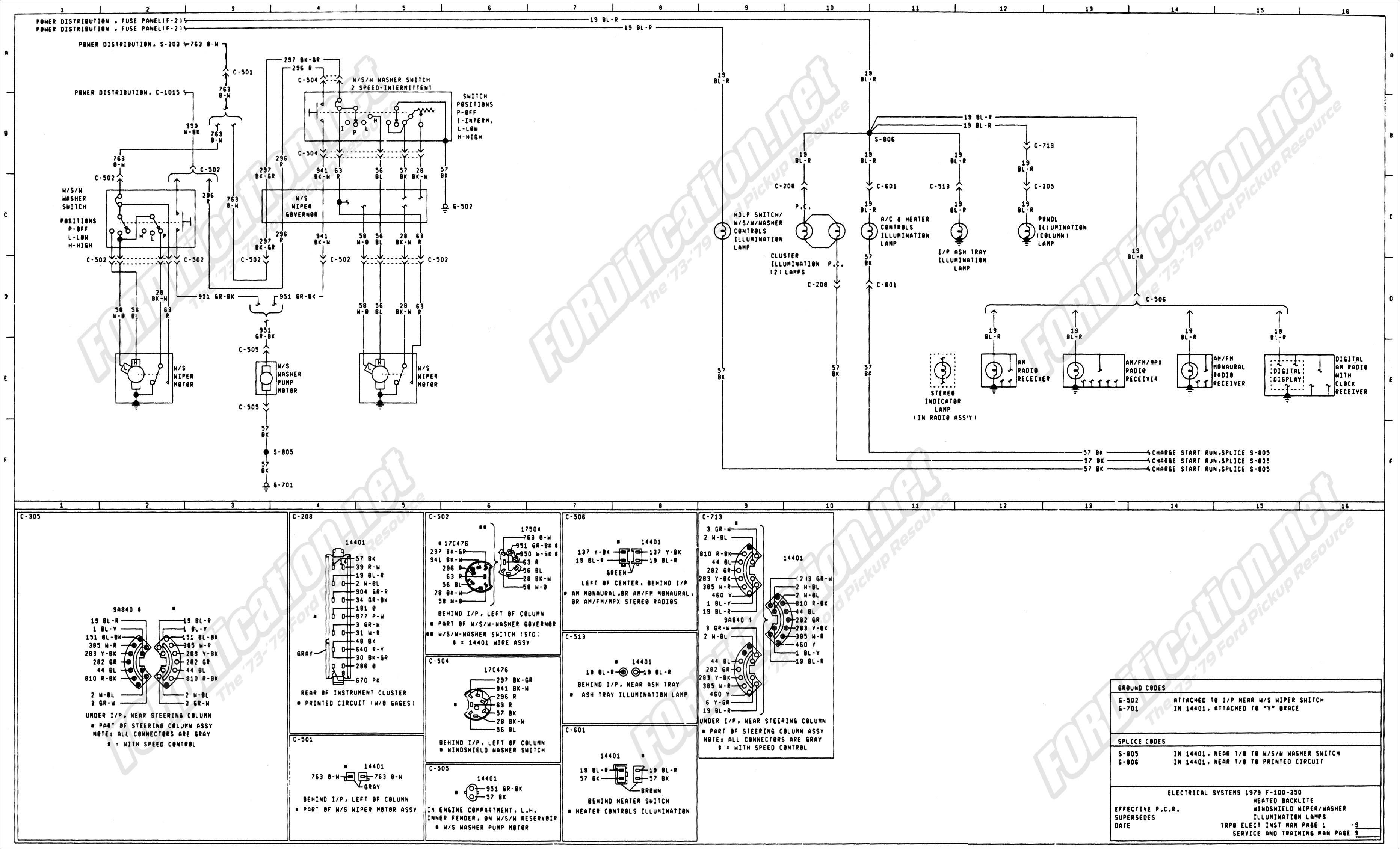Ford Truck Steering Column Diagram 1973 1979 ford Truck Wiring Diagrams & Schematics fordification Of Ford Truck Steering Column Diagram