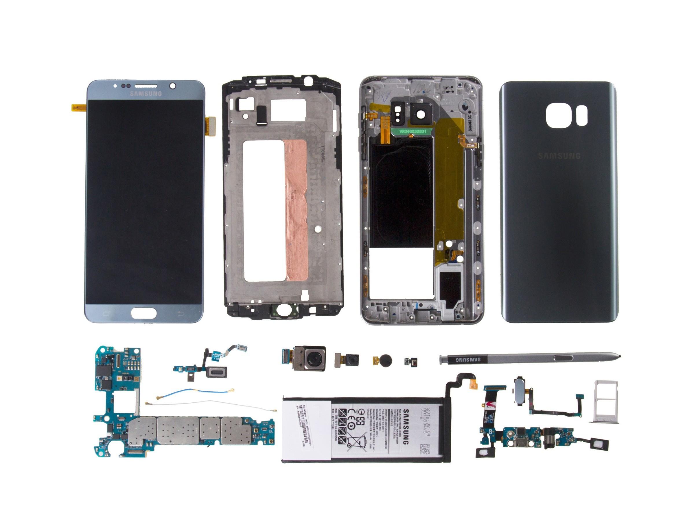 Galaxy S3 Parts Diagram Samsung Galaxy Note5 Teardown ifixit Of Galaxy S3 Parts Diagram