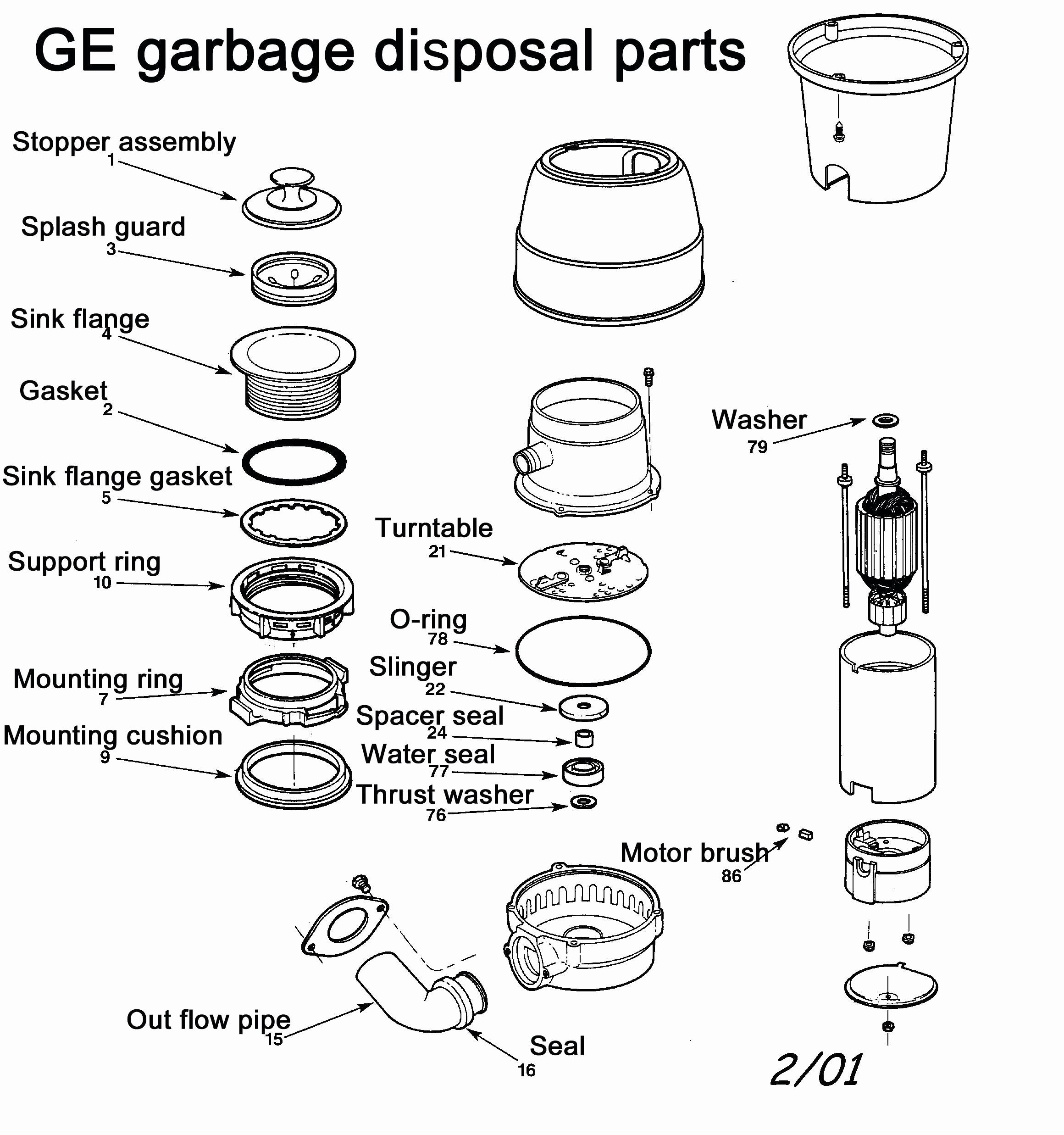 Garbage Disposal Parts Diagram Example Wiring Diagram for Garbage Disposal Edmyedguide24 Of Garbage Disposal Parts Diagram