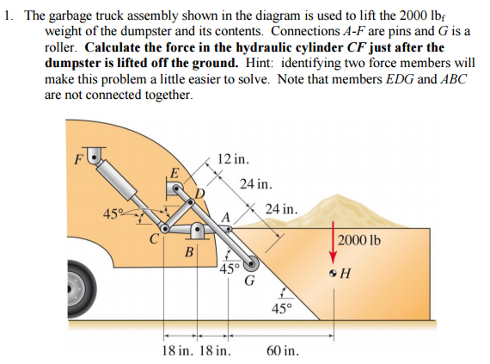 Garbage Truck Diagram solved the Garbage Truck assembly Shown In the Diagram is Of Garbage Truck Diagram