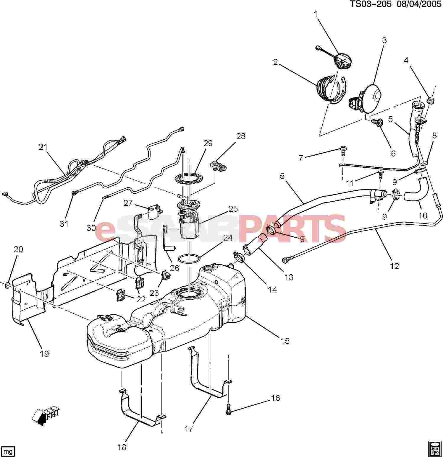 Gas Engine Parts Diagram Esaabparts Saab 9 7x Engine Parts Fuel System Fuel Tank Of Gas Engine Parts Diagram