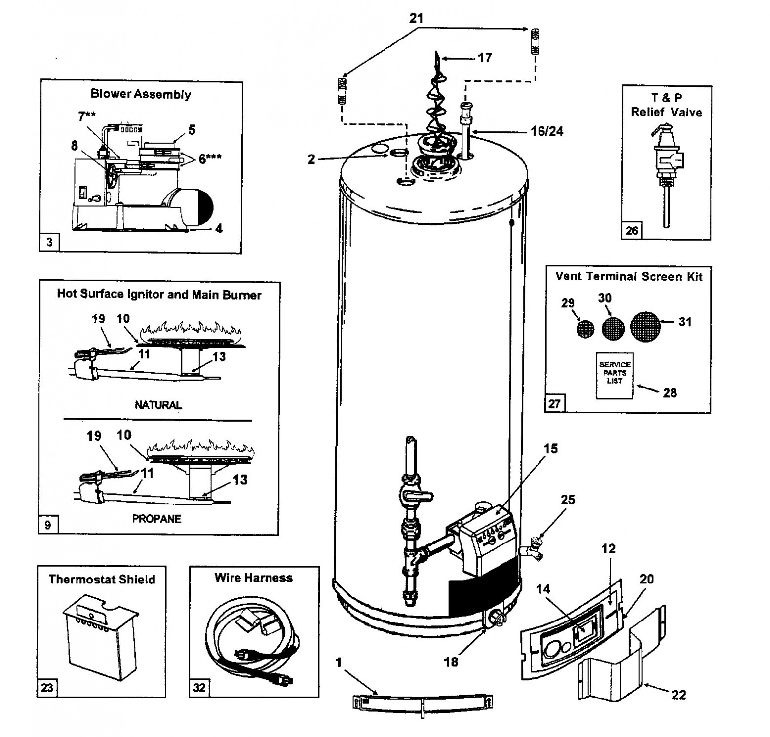 Gas Hot Water Heater Parts Diagram Gas Water Heater Diagram – Gas Water Heater Parts Diagram Air Of Gas Hot Water Heater Parts Diagram