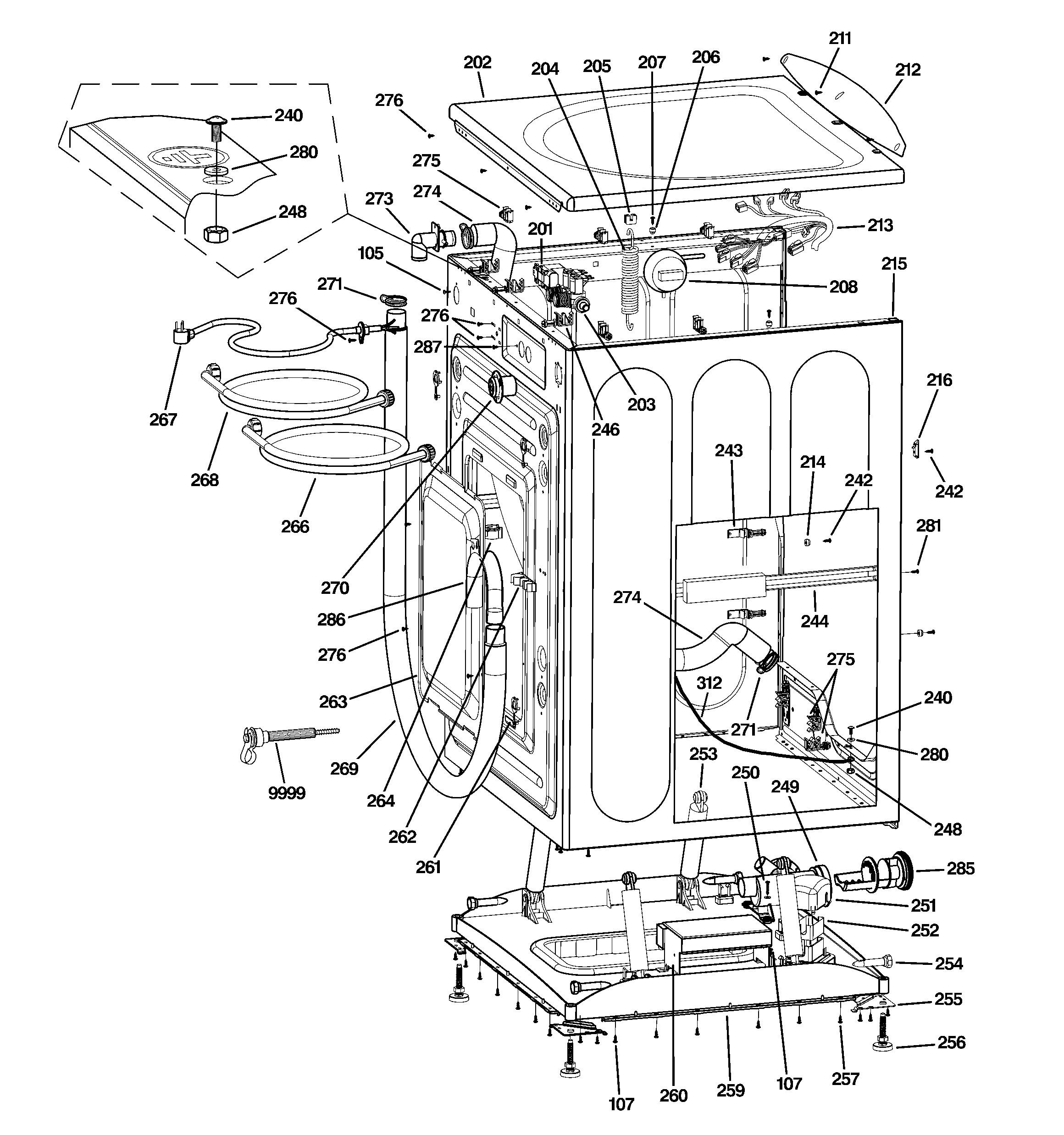 Ge Dishwasher Parts Diagram Ge Model Gfwn1100l2ww Residential Washers Genuine Parts Of Ge Dishwasher Parts Diagram
