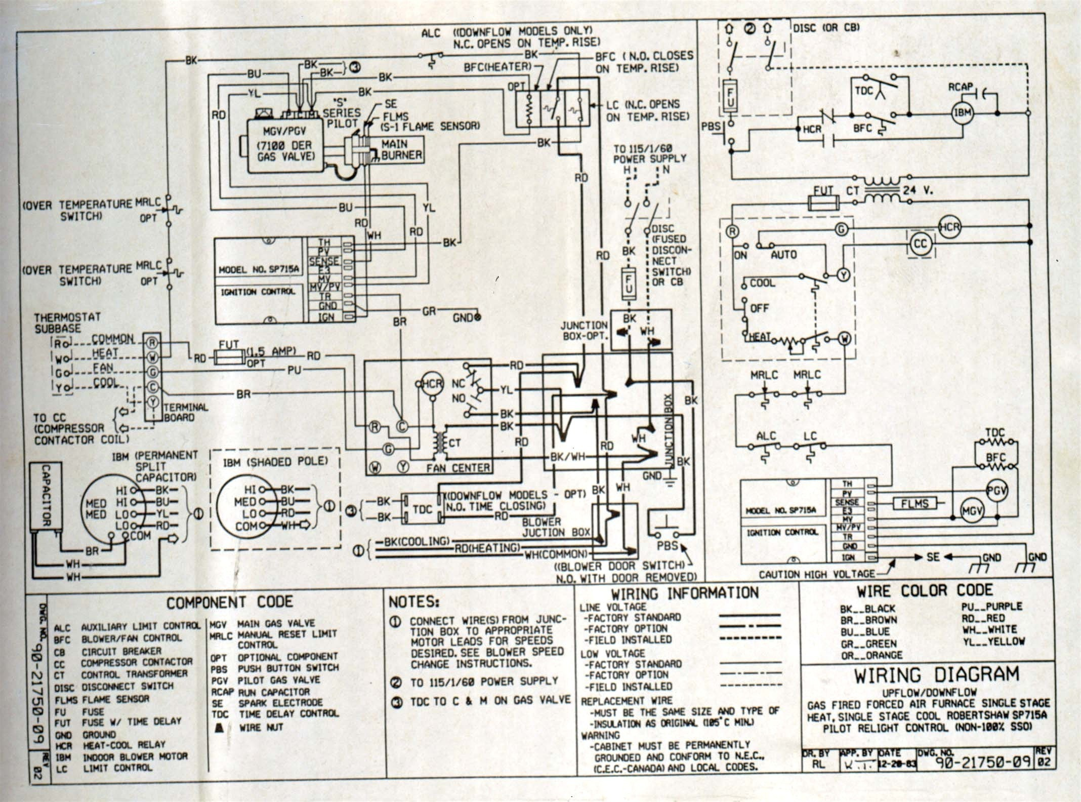 General Electric Motor Wiring Diagram 2 Ge Gas Furnace ... on
