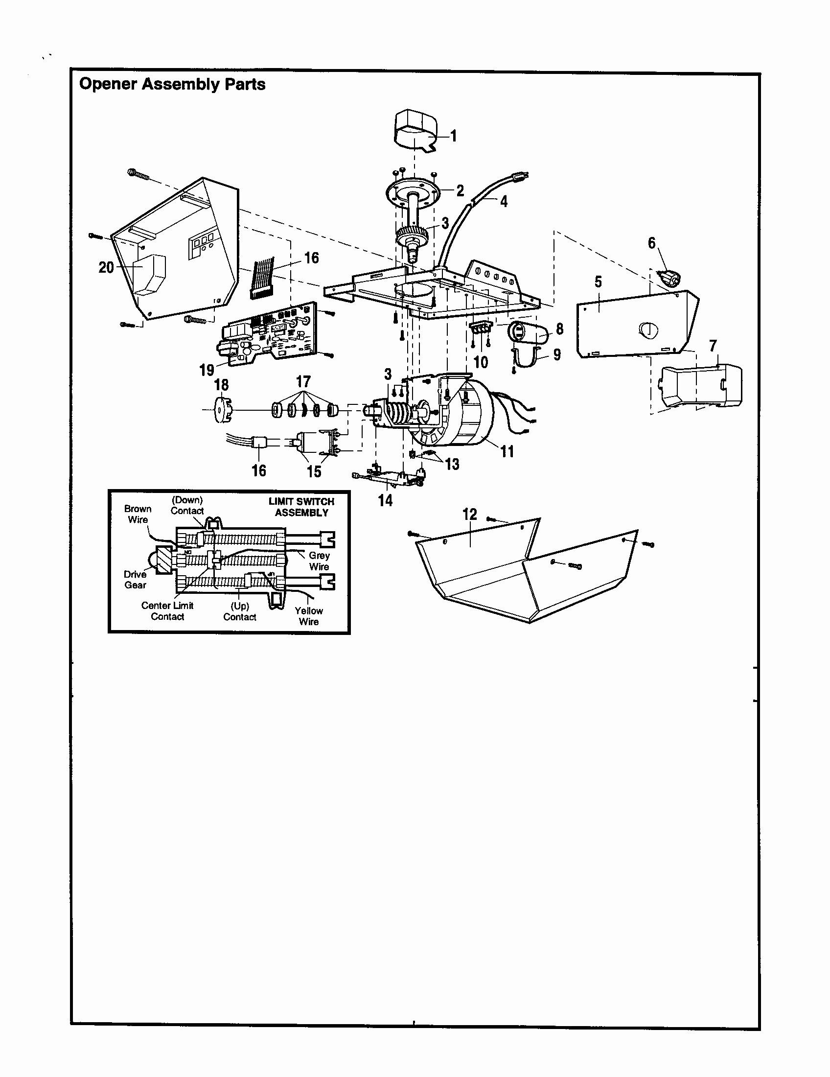 Genie Garage Door Opener Parts Diagram Genie Garage Door Opener Wiring Diagram Shahsramblings Of Genie Garage Door Opener Parts Diagram