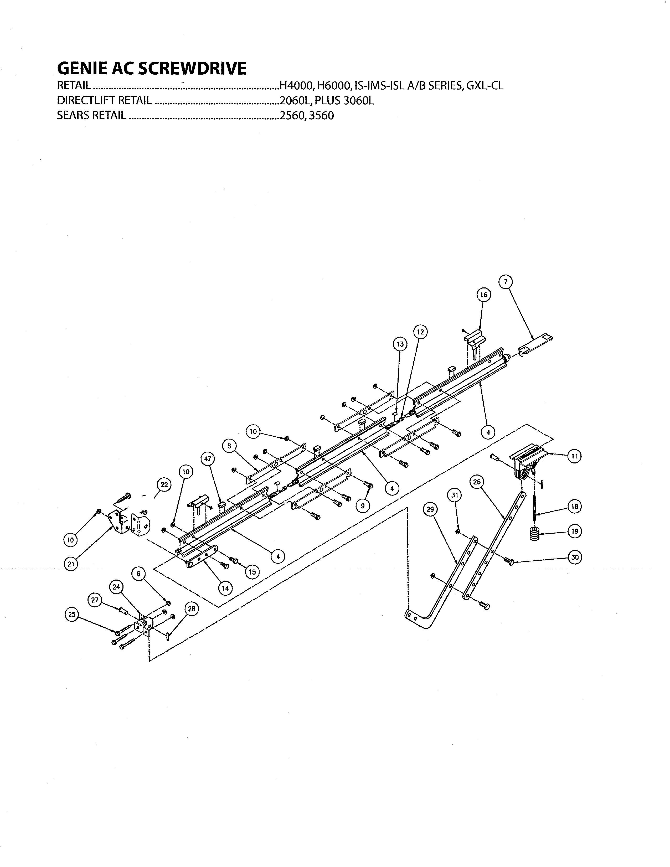 Genie Garage Door Opener Parts Diagram Genie Model H4000 Garage Door Opener Genuine Parts Of Genie Garage Door Opener Parts Diagram