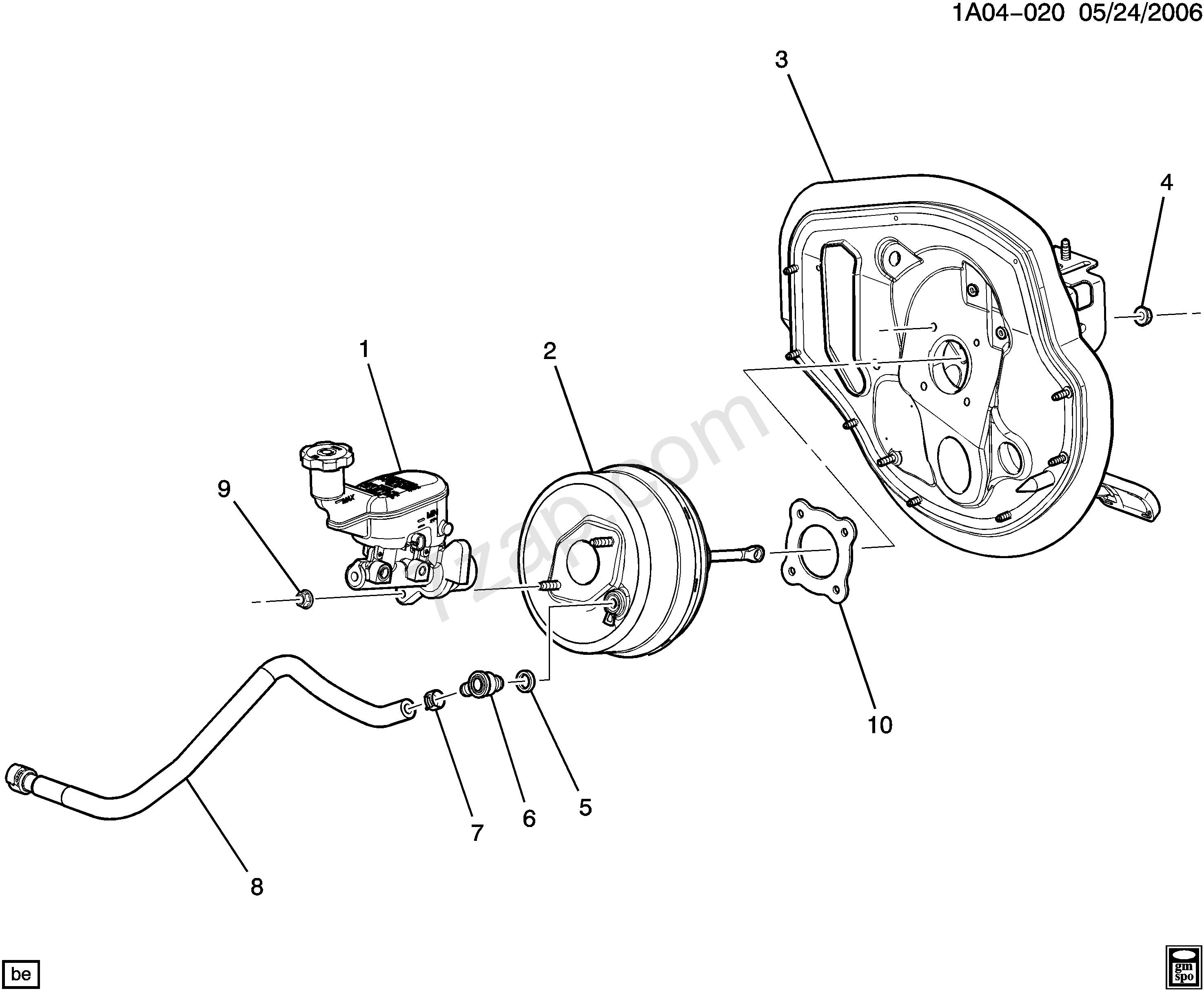 Gm Master Cylinder Diagram 2005 2005 A Brake Booster