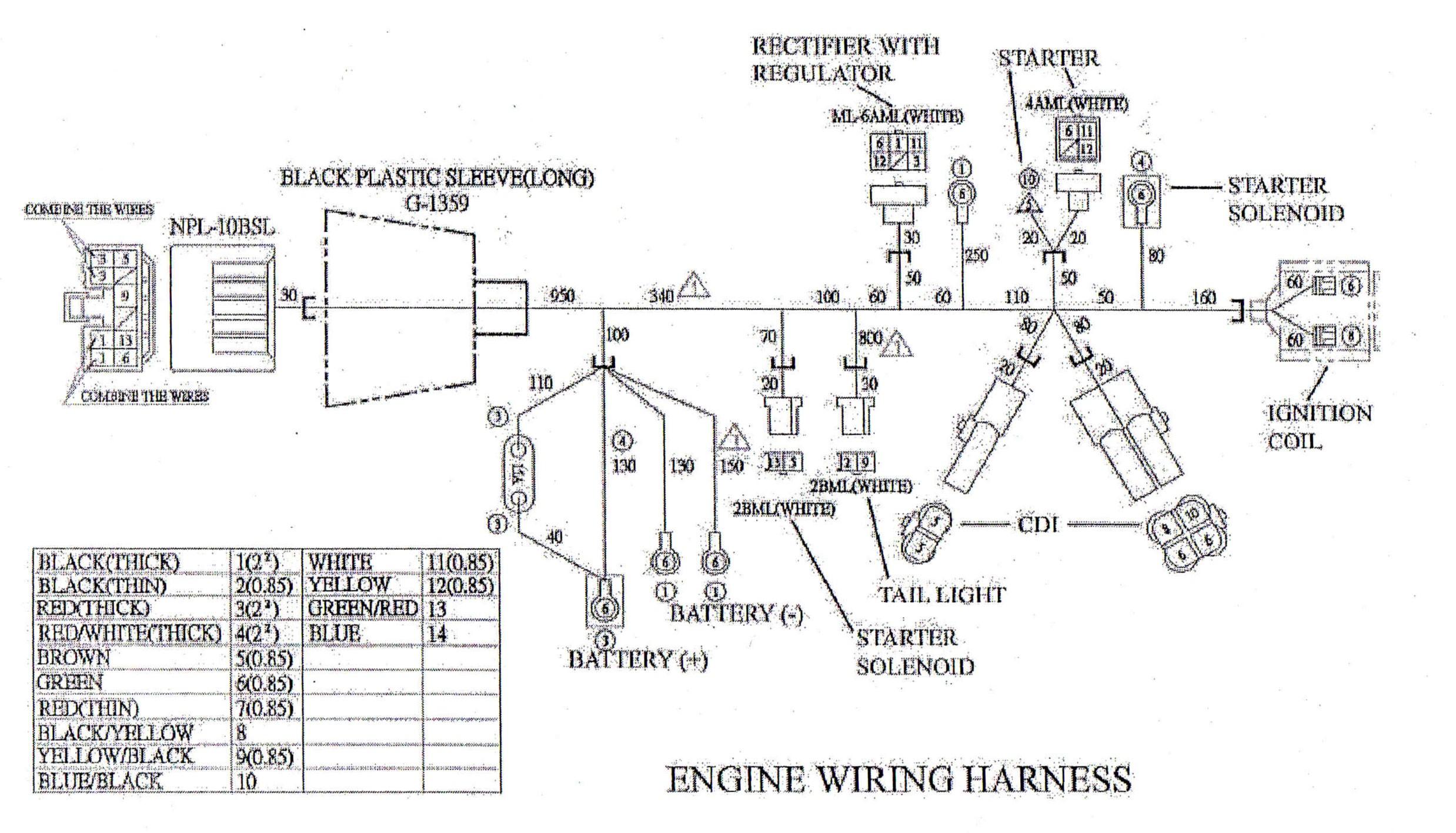 Gy6 150cc Engine Diagram Engine Wiring Harness for Yerf Dog Cuvs Of Gy6 150cc Engine Diagram