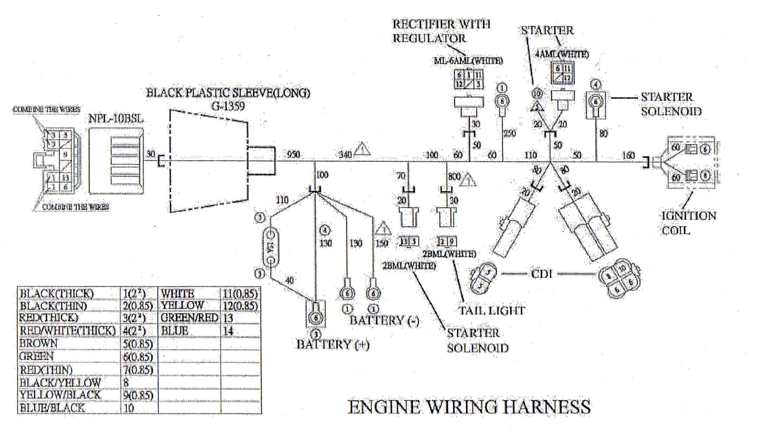 Gy6 Engine Wiring Diagram Engine Wiring Harness for Yerf Dog Cuvs Of Gy6 Engine Wiring Diagram