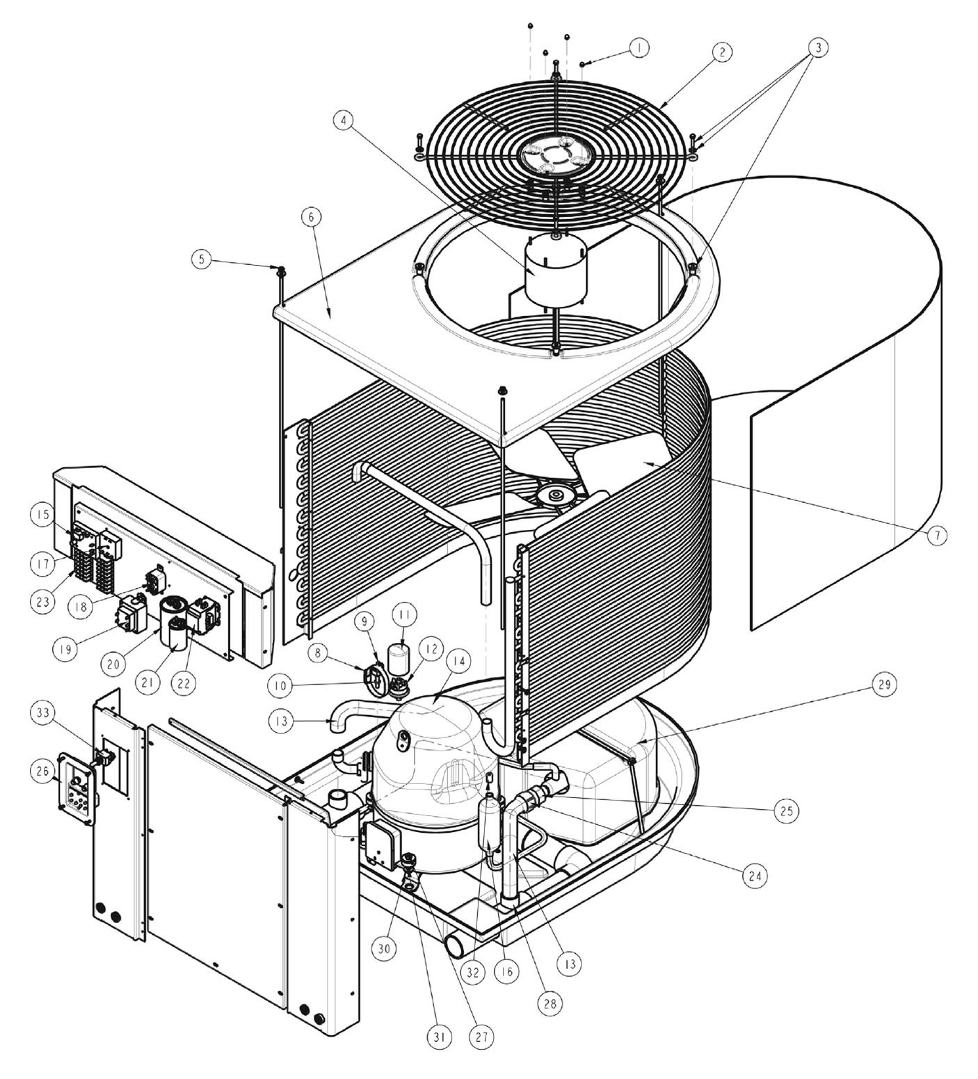Hayward Pump Parts Diagram Pentair Minimax Plus Hp Heat Pump Parts Of Hayward Pump Parts Diagram
