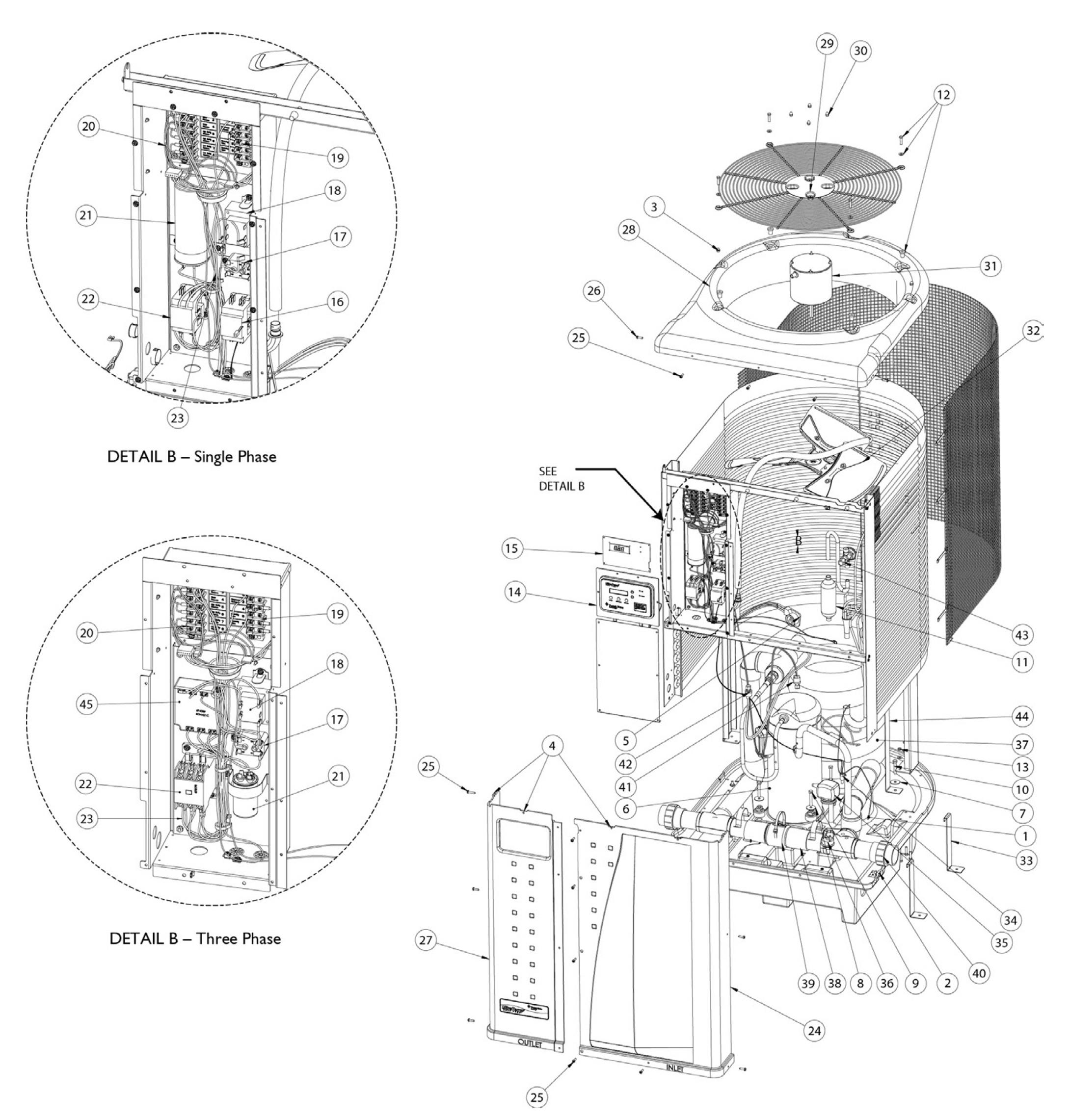 Hayward Pump Parts Diagram Pentair Ultratemp Heat Pump Parts Of Hayward Pump Parts Diagram