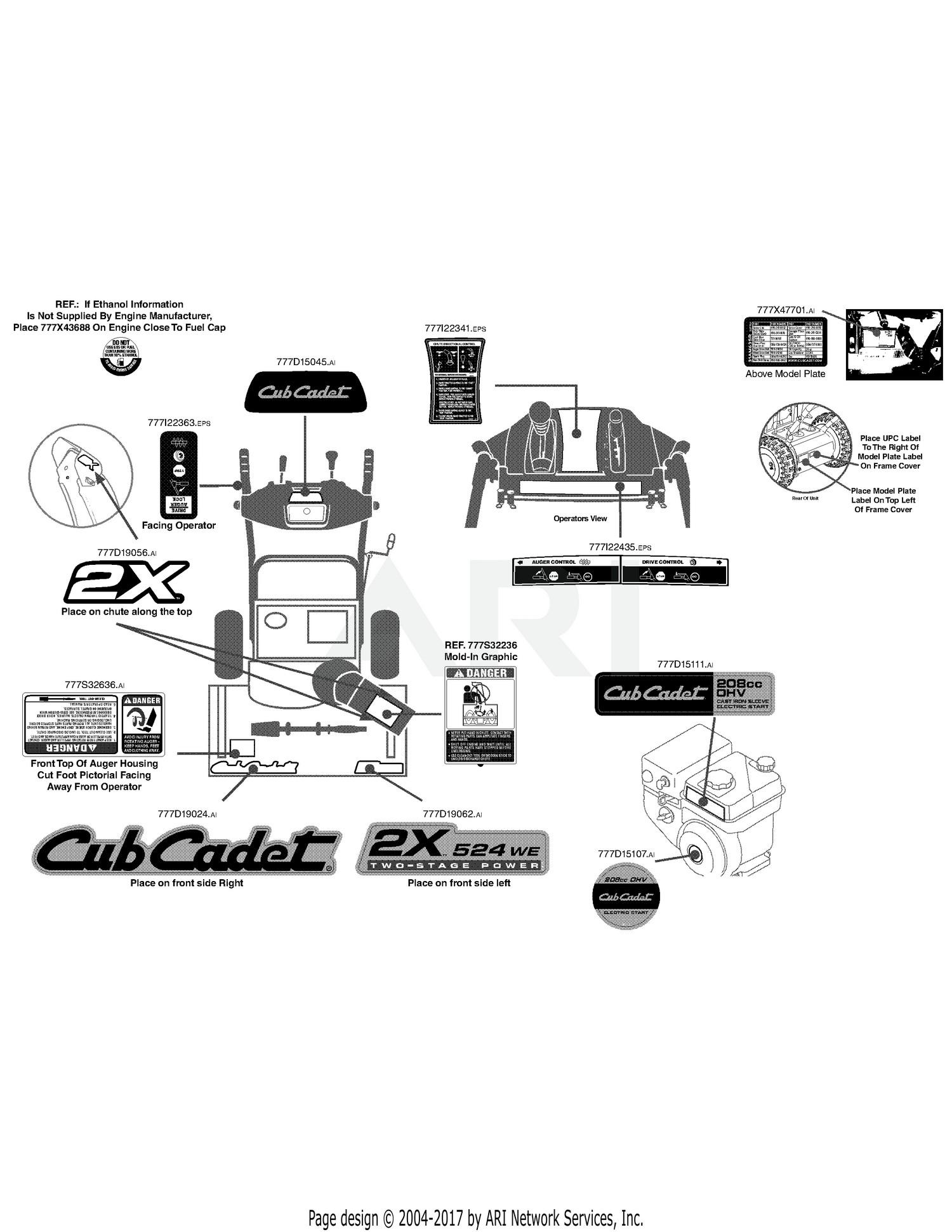 Labelled Diagram Of Car Parts Cub Cadet Parts Diagrams Cub Cadet 2x 524we Hm 2014 31am63sr710 Of Labelled Diagram Of Car Parts