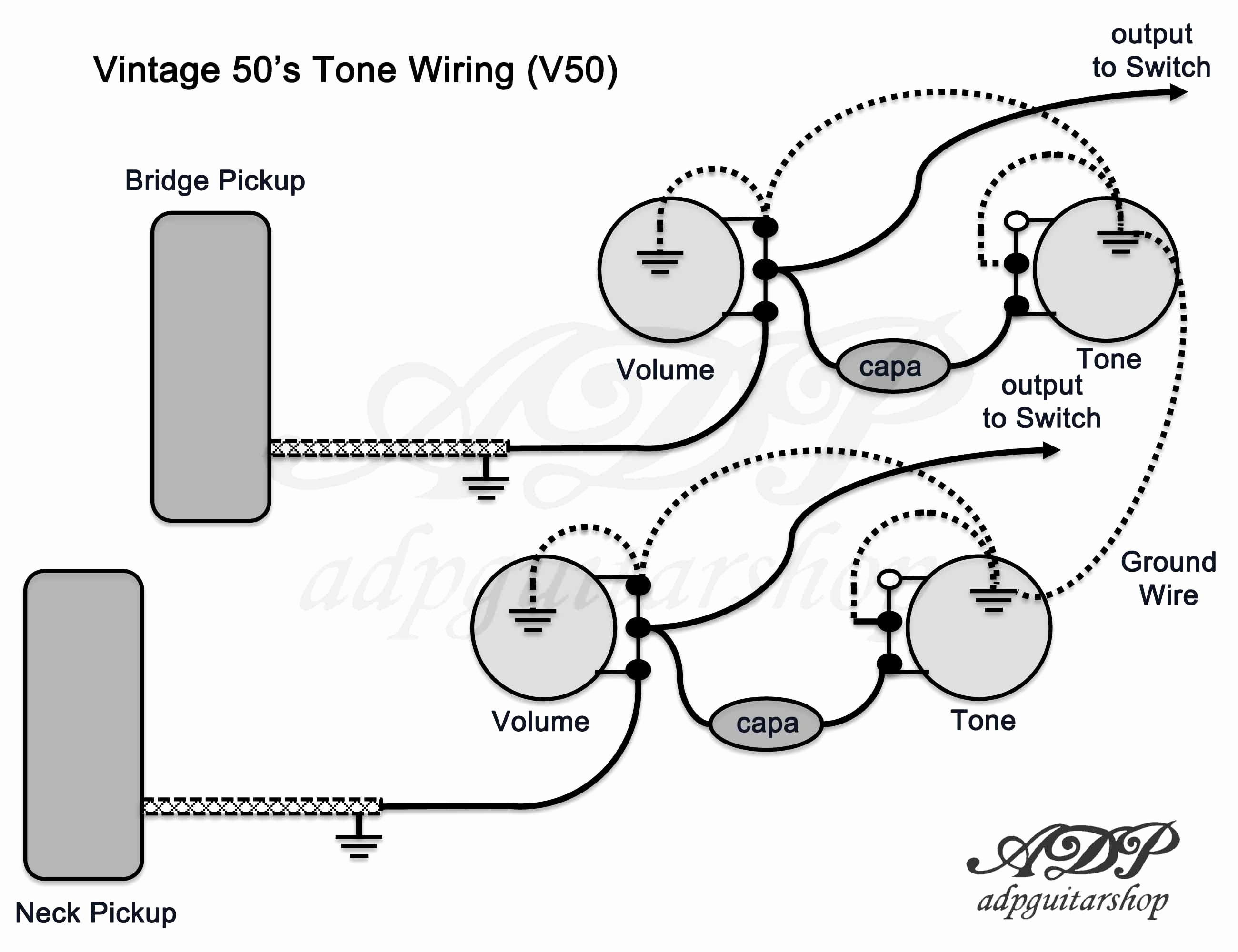 Les Paul 50s Wiring Diagram Guitar Wiring Diagram No Pots Fresh Wiring Diagram Les Paul 50s Of Les Paul 50s Wiring Diagram