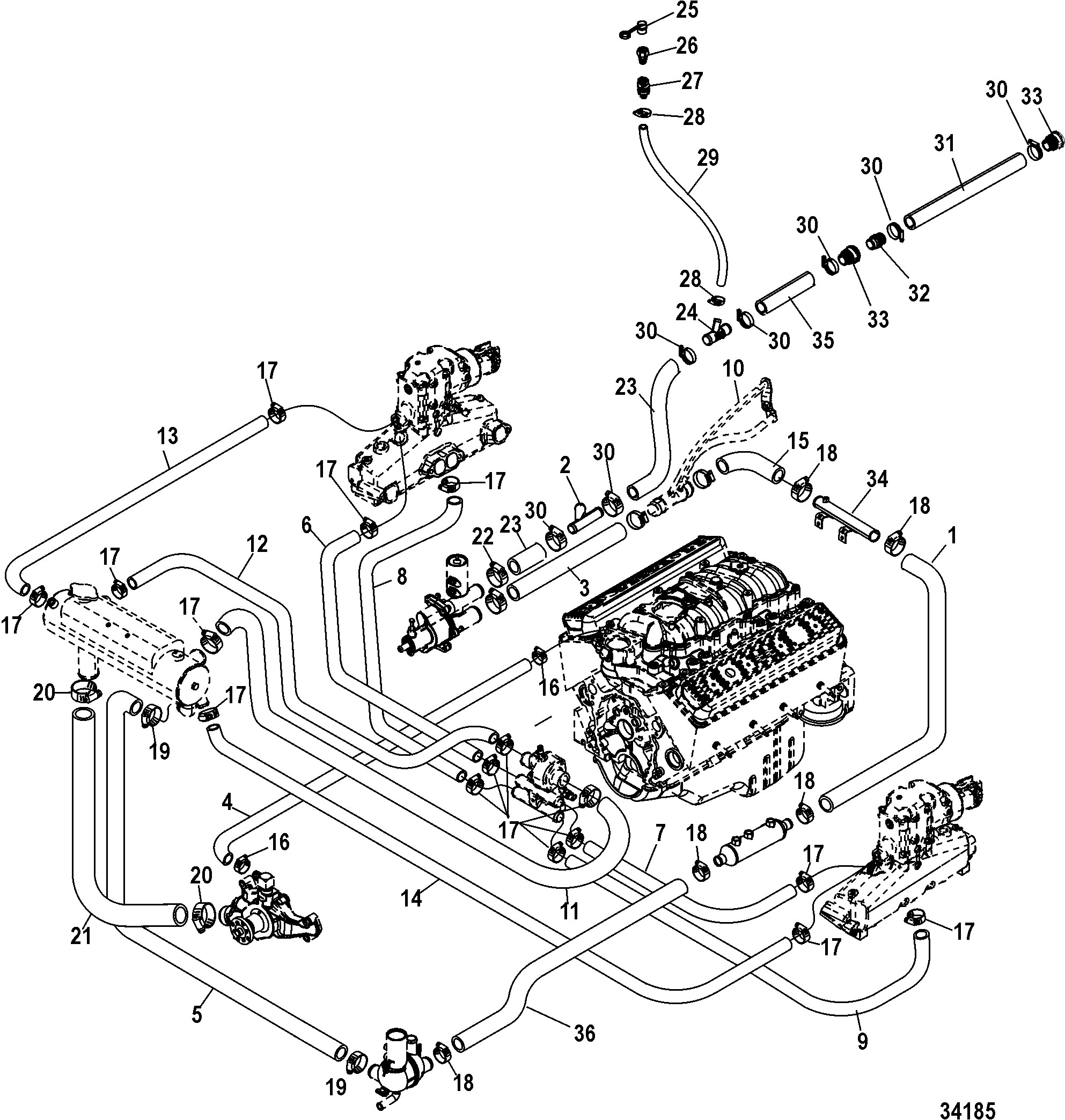 Marine Diesel Engine Cooling System Diagram
