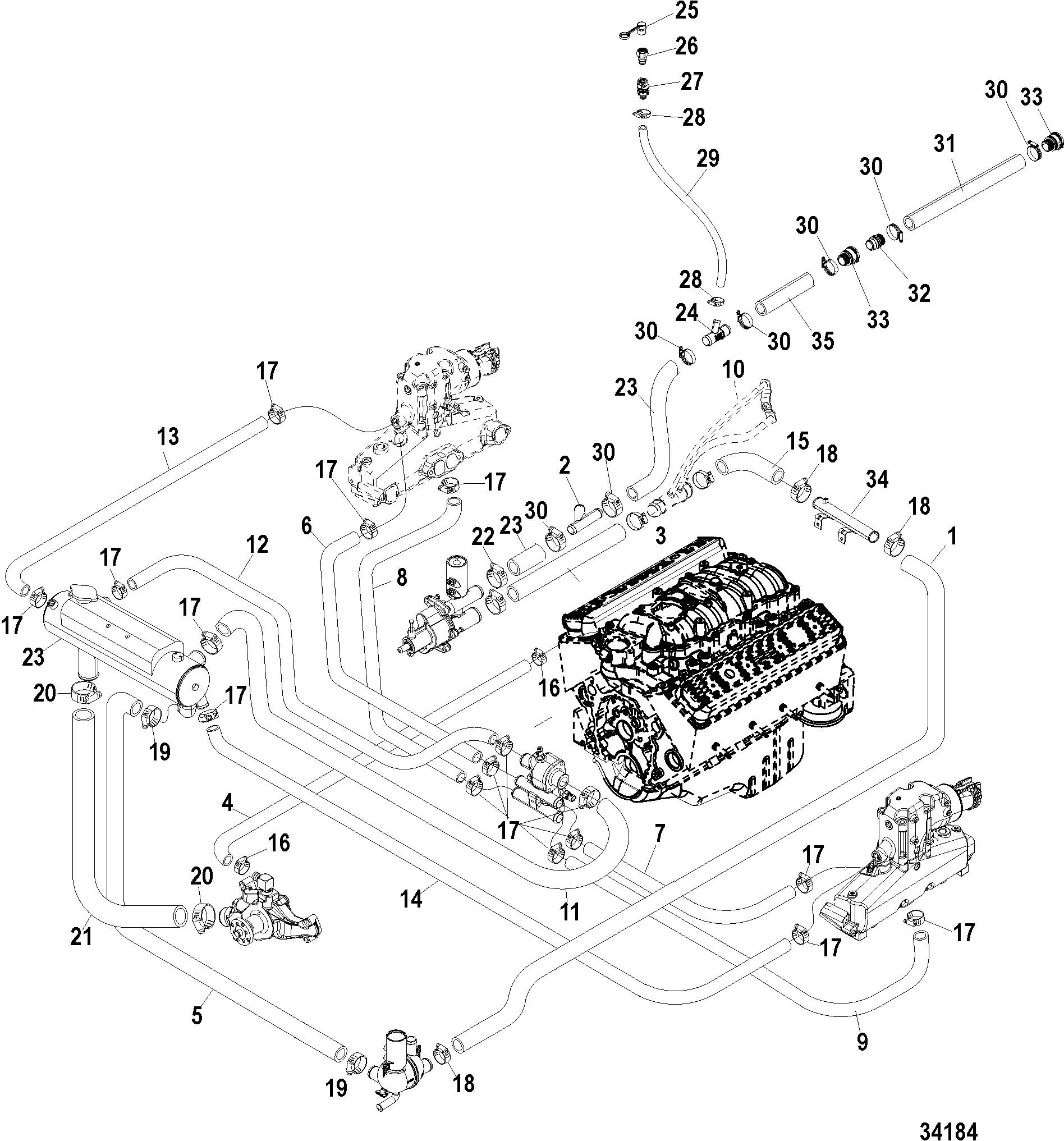 Marine Engine Cooling System Diagram Hardin Marine Closed Cooling System Bravo Of Marine Engine Cooling System Diagram