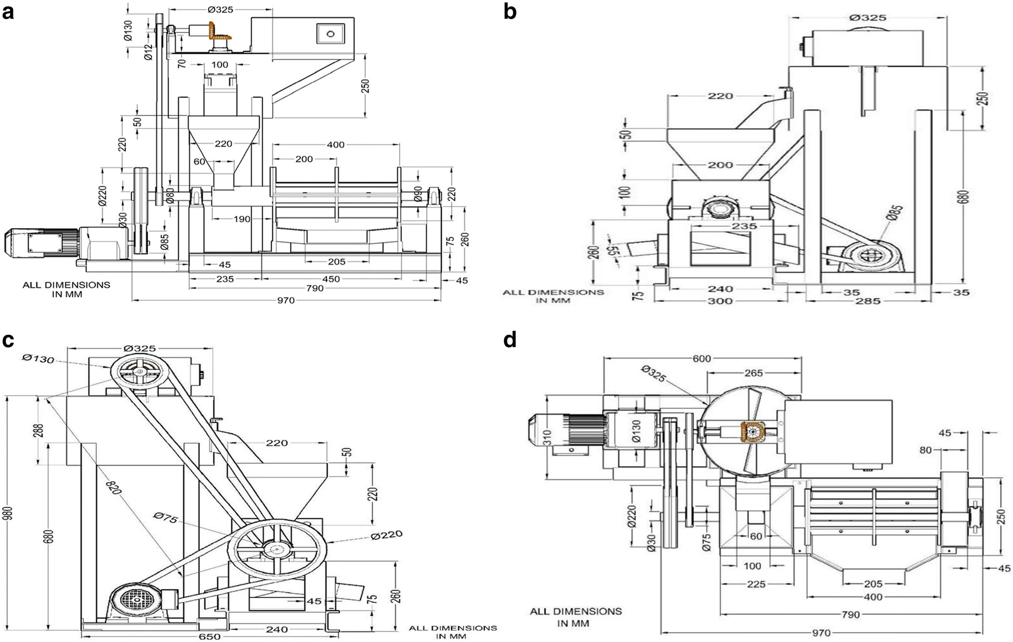 Mbe 4000 Engine Diagram Development Testing and Optimization Of A Screw Press Oil Expeller Of Mbe 4000 Engine Diagram