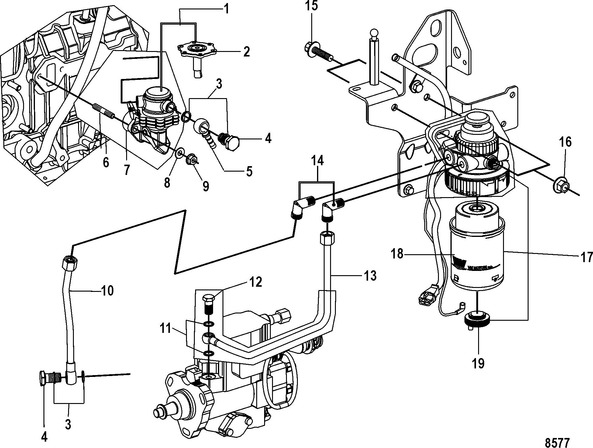 Mercruiser 170 Engine Diagram КатаРог запчастей Mercruiser остаРьные Cmd 2 8 Es 170 Thru Of Mercruiser 170 Engine Diagram