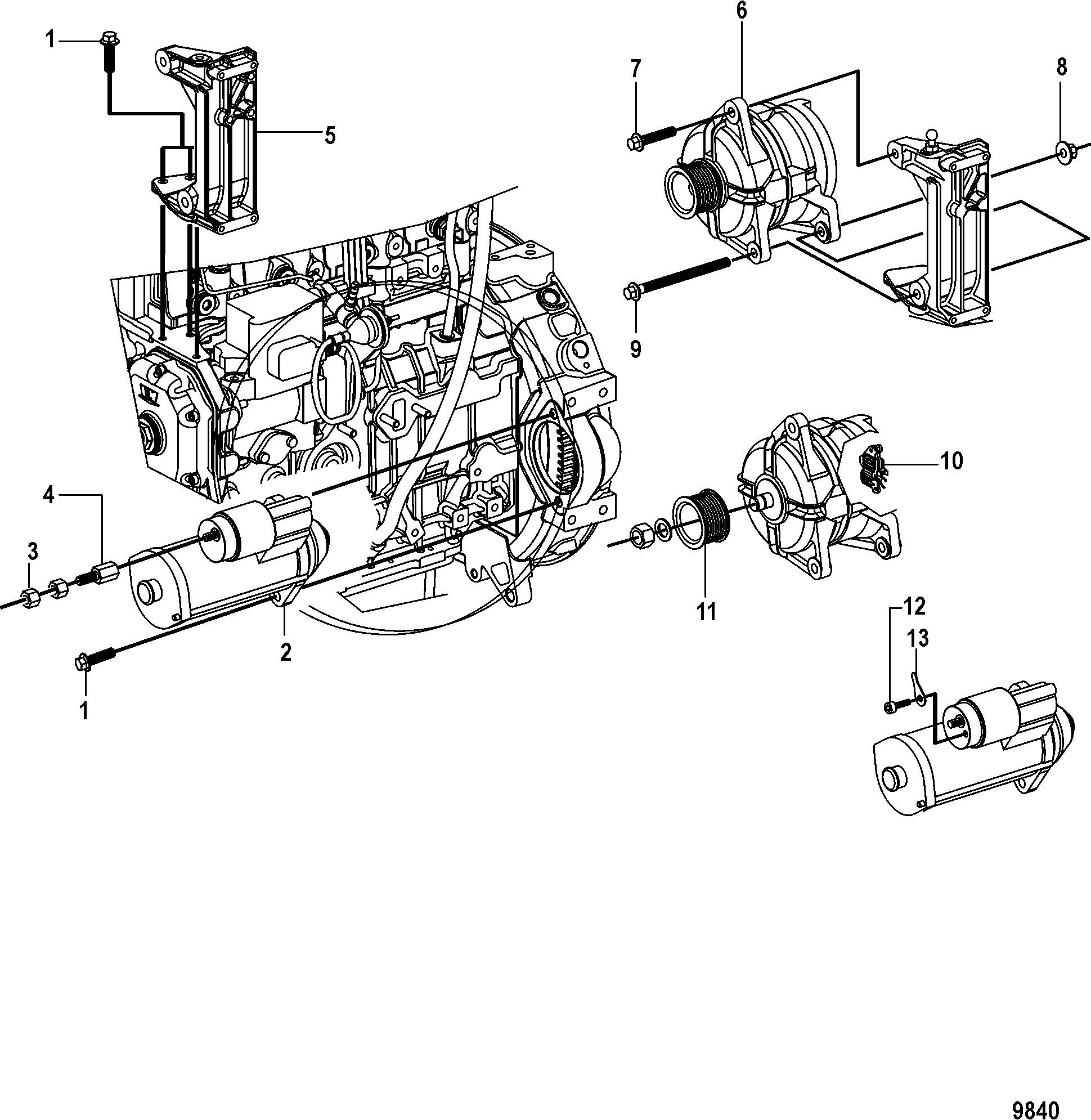 Mercruiser 170 Engine Diagram КатаРог запчастей Mercruiser остаРьные Cmd 2 8 Es 170 Thru Of Mercruiser 170 Engine Diagram