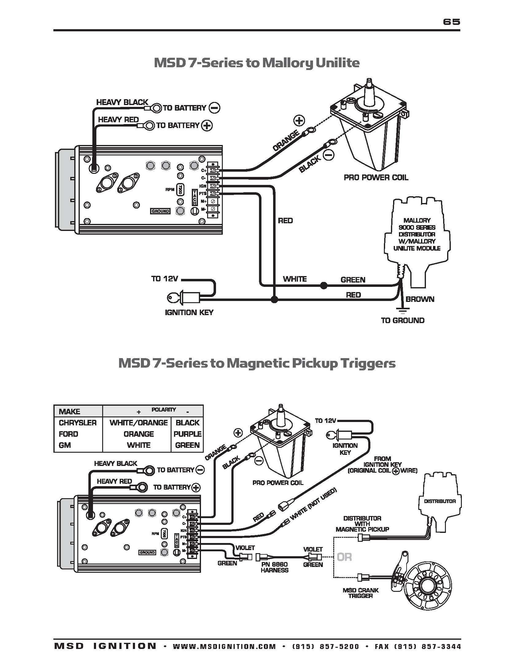 msd distributor wiring diagram