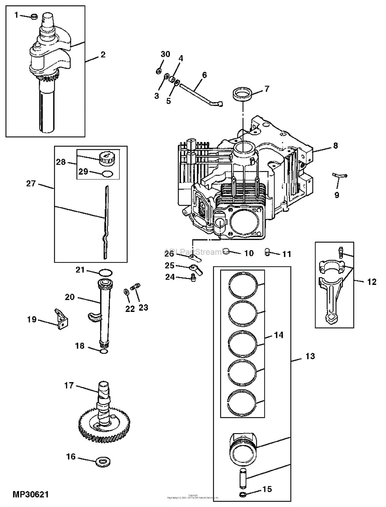 Piston Parts Diagram John Deere Parts Diagrams John Deere L130 Lawn Tractor Pc9291 Of Piston Parts Diagram