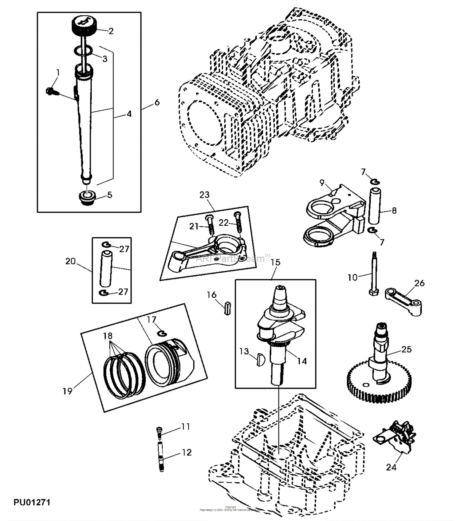 Piston Parts Diagram John Deere Parts Diagrams John Deere Sabre 1438 Lawn Tractor