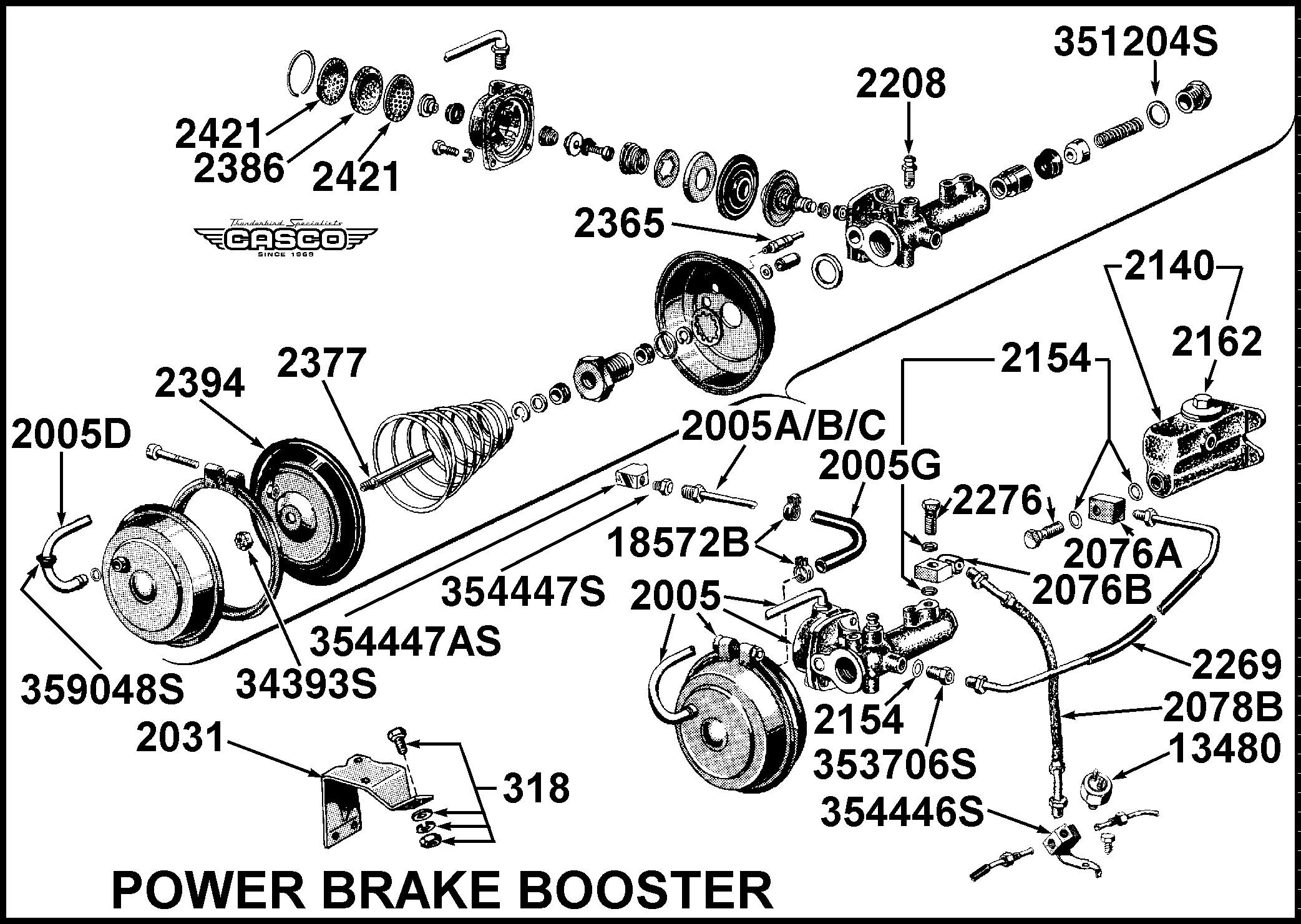 """Power Brake Booster Diagram Vacuum Flex Line Power Brake Booster 57 """"e"""" Bird 1 Per Car Of Power Brake Booster Diagram"""