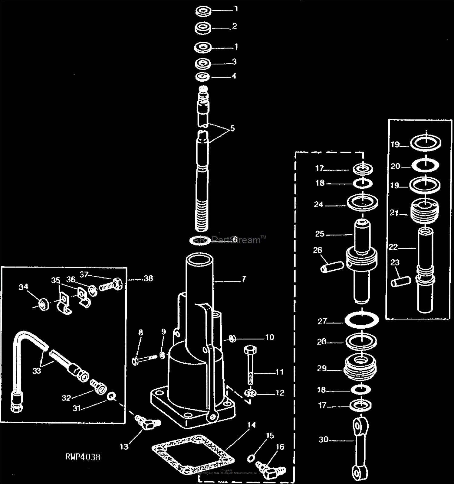Power Steering Pump Parts Diagram John Deere Parts Diagrams John Deere 2030 Tractor Pc1289 Power Of Power Steering Pump Parts Diagram