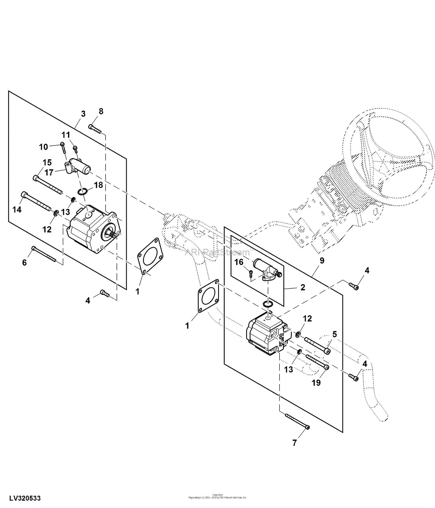 power steering pump parts diagram cub cadet parts diagrams
