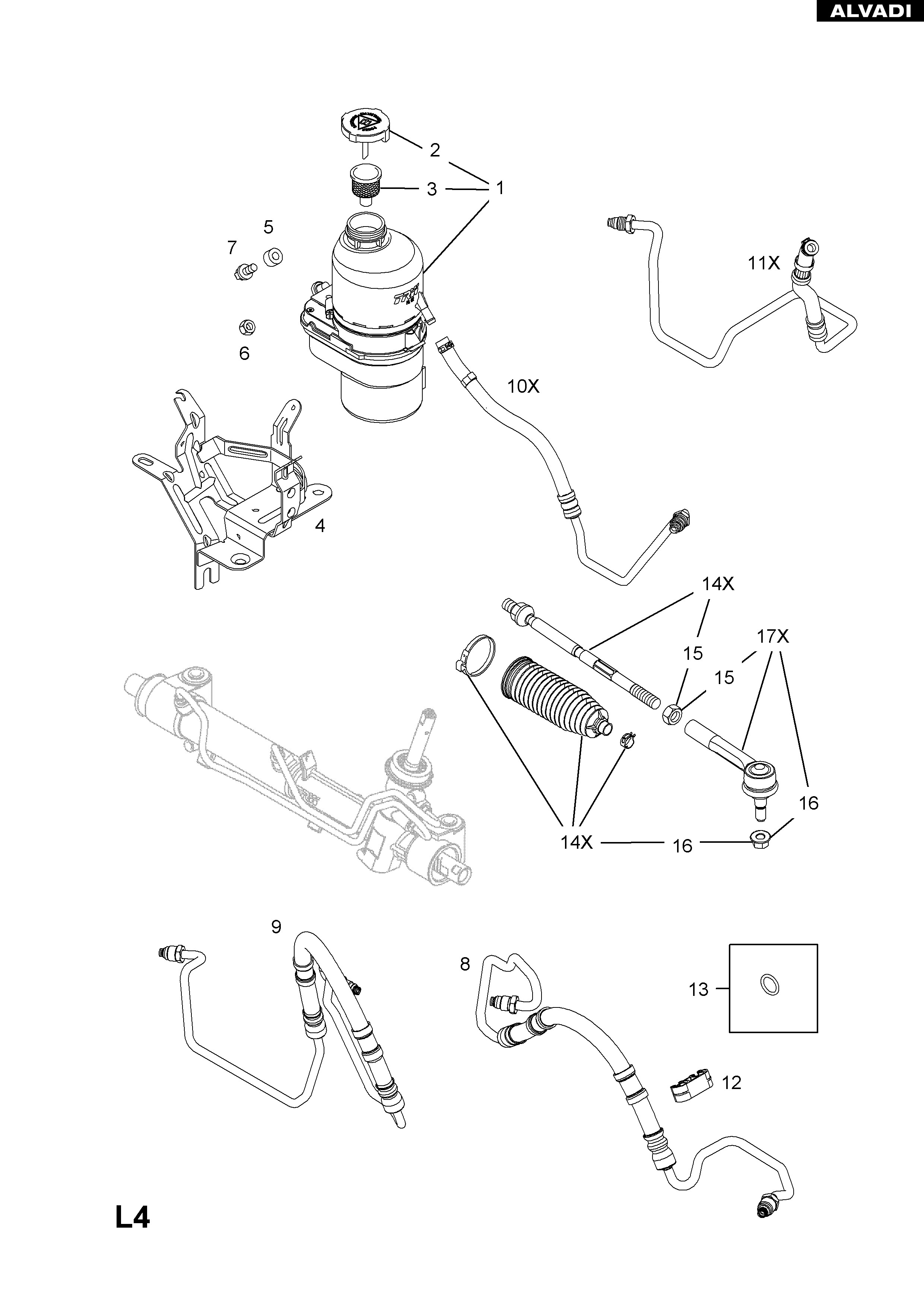 Power Steering Pump Parts Diagram Cub Cadet Parts Diagrams