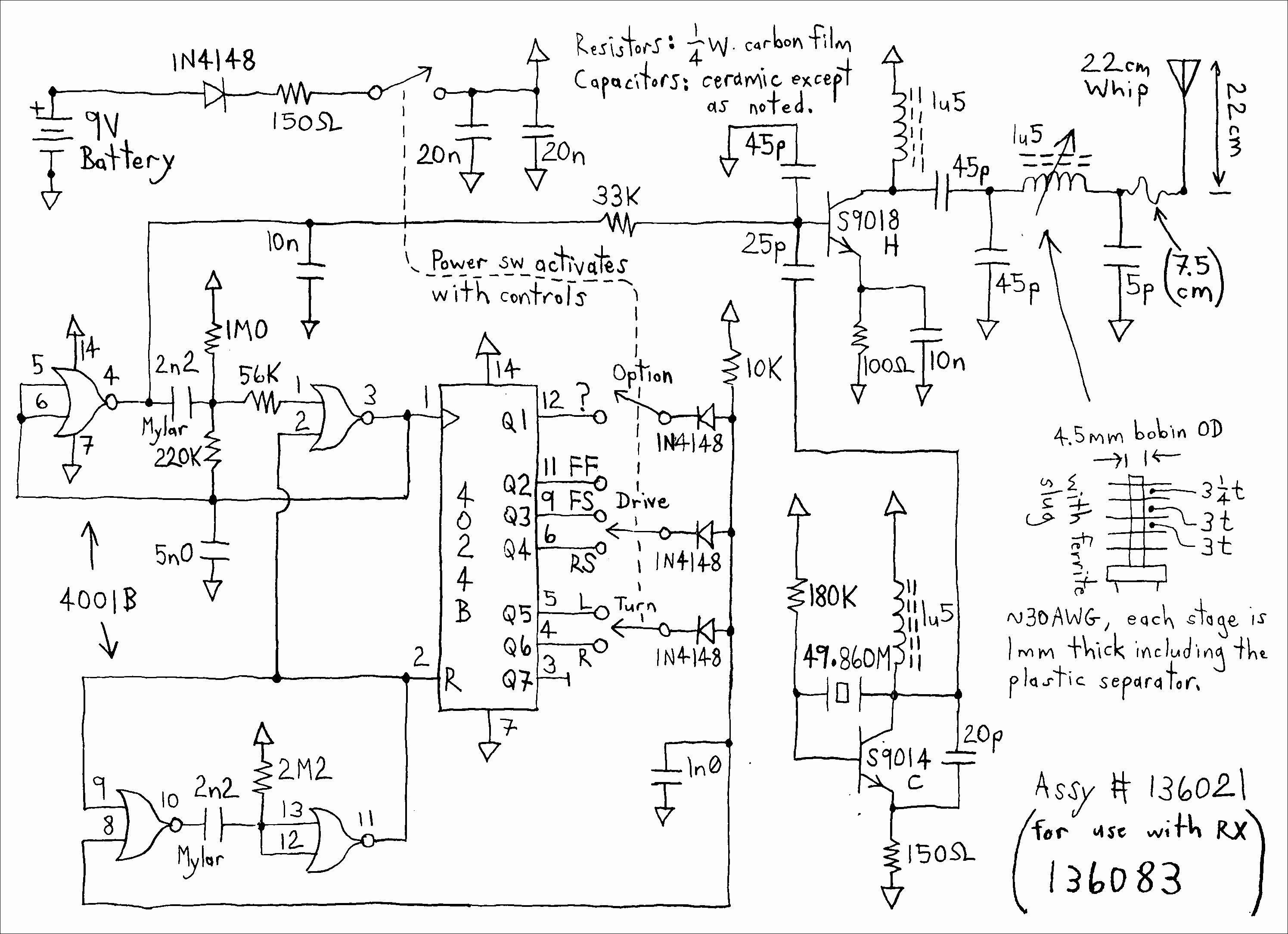 Remote Control Car Circuit Diagram Pdf solar Vehicle Wiring Diagram Detailed Schematic Diagrams