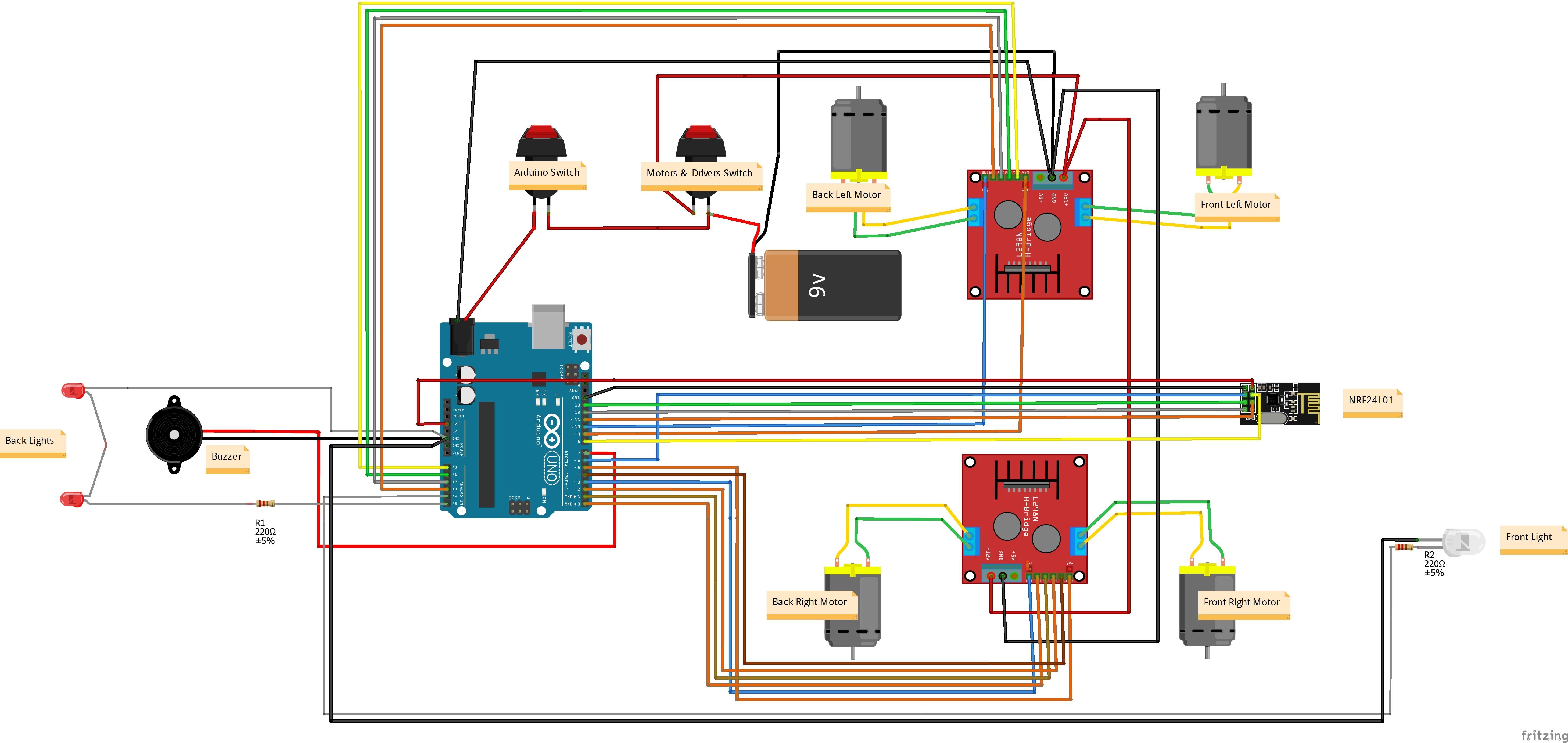 Rf Remote Control Car Circuit Diagram Arduino 4wd Rc Car