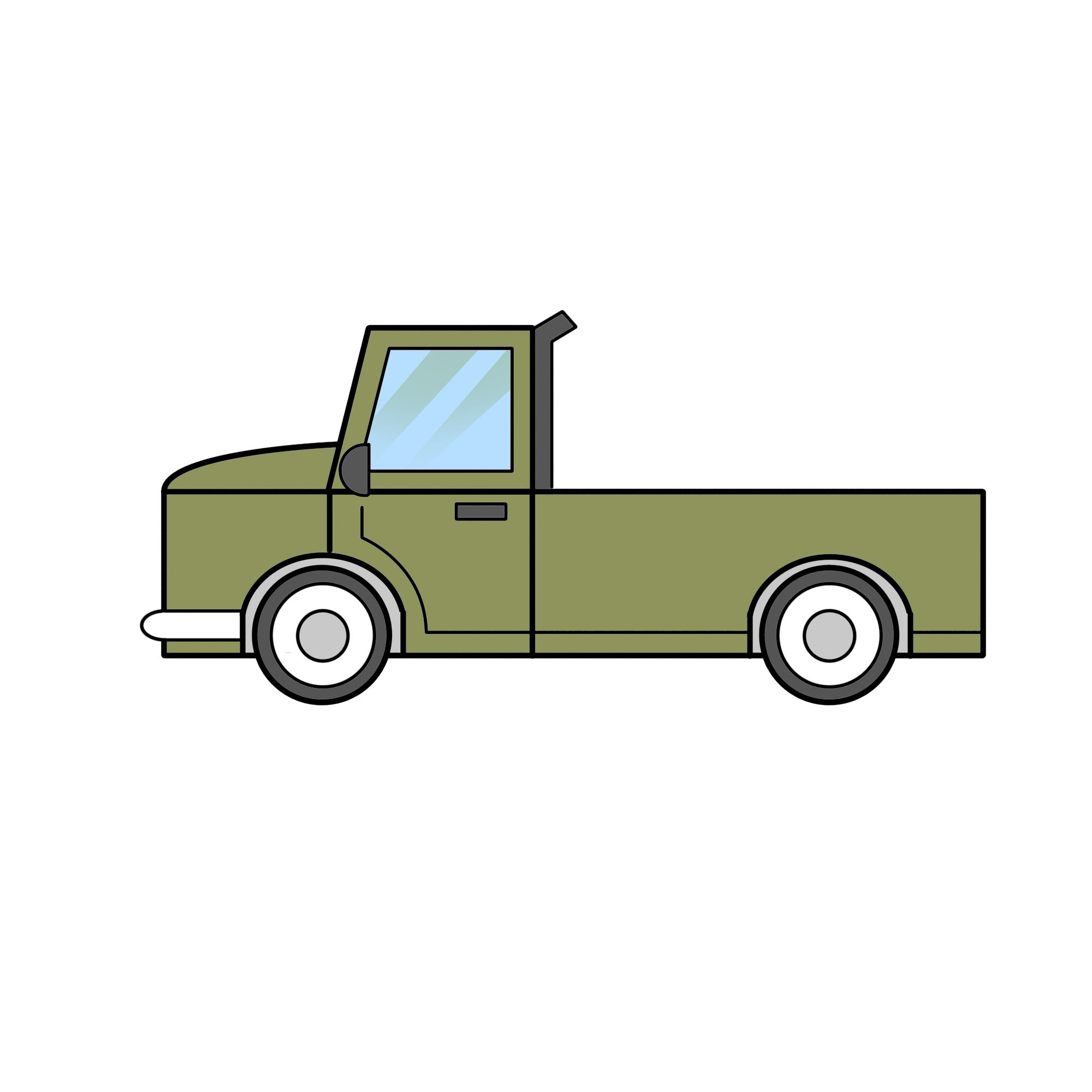 Semi Truck Diagram 2 Easy Ways to Draw A Truck with Wikihow Of Semi Truck Diagram