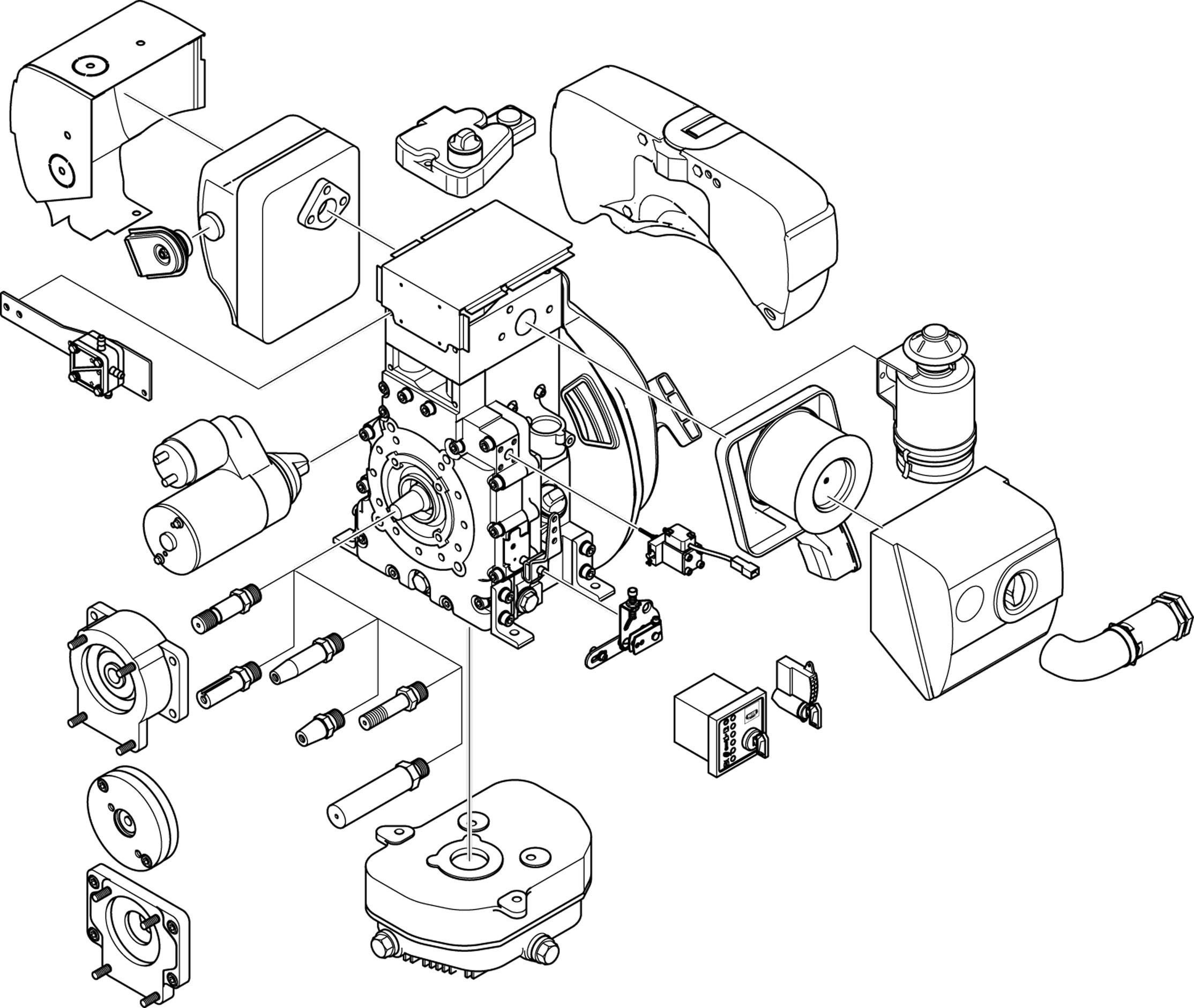 single cylinder engine diagram