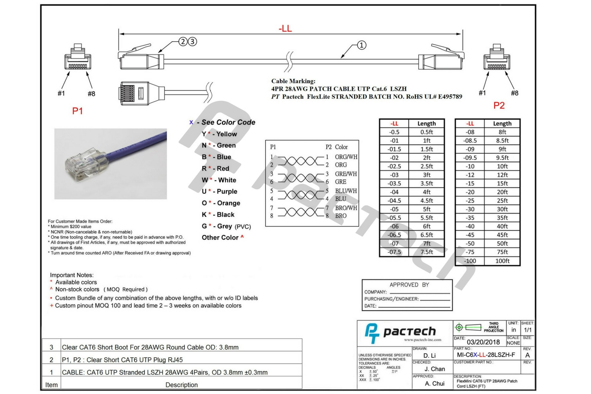 telephone cable wiring diagram