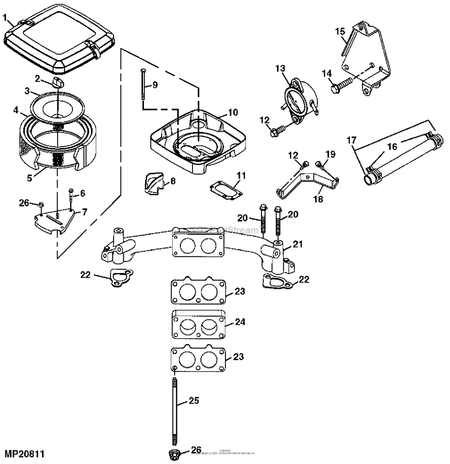 Tractor Engine Parts Diagram John Deere Parts Diagrams John Deere Sabre Garden Tractor Pc2698 Of Tractor Engine Parts Diagram