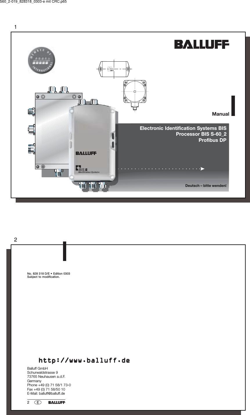 Transmission Diagram Manual Biss301j Tag Reader User Manual Manual 2 Balluff Inc Of Transmission Diagram Manual