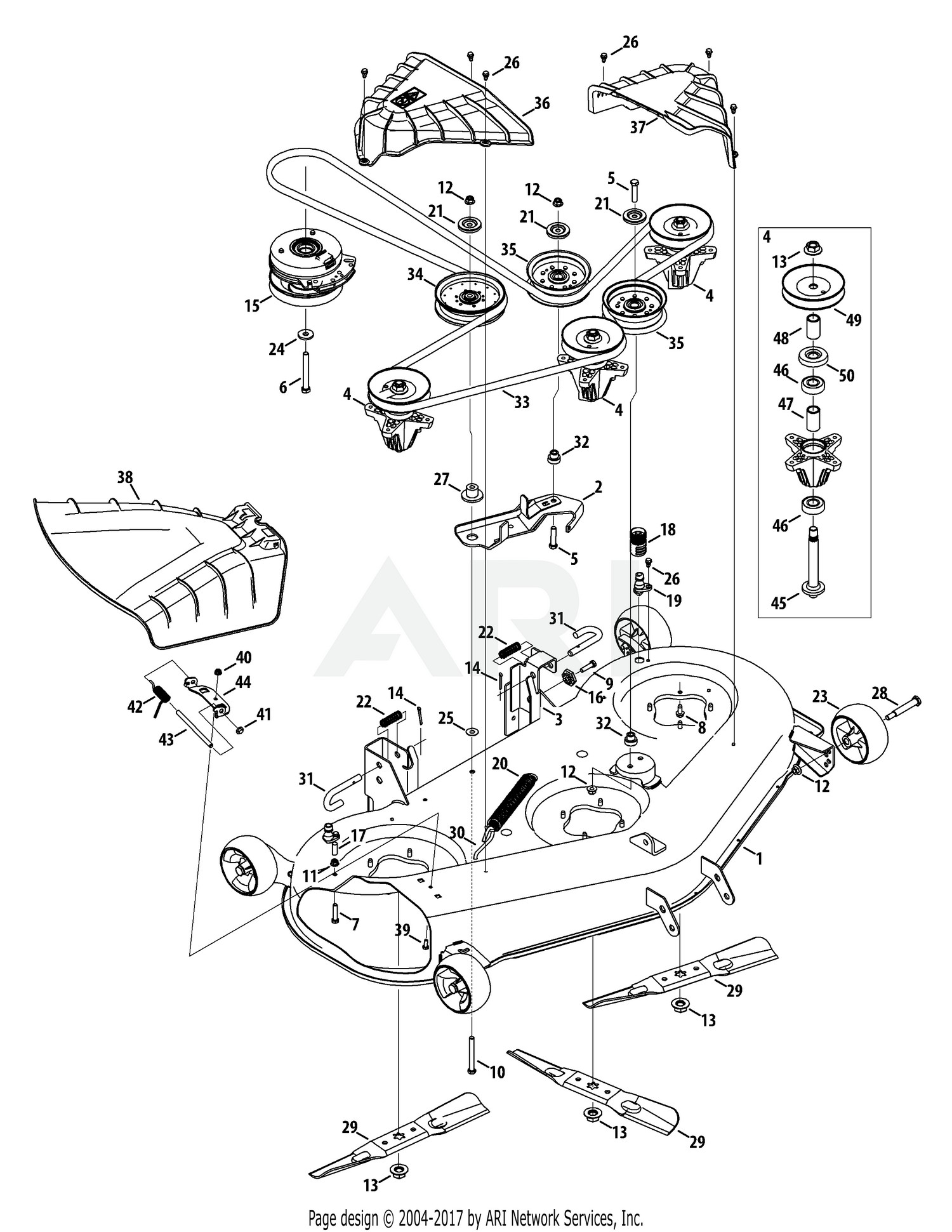 troy bilt lawn mower engine diagram