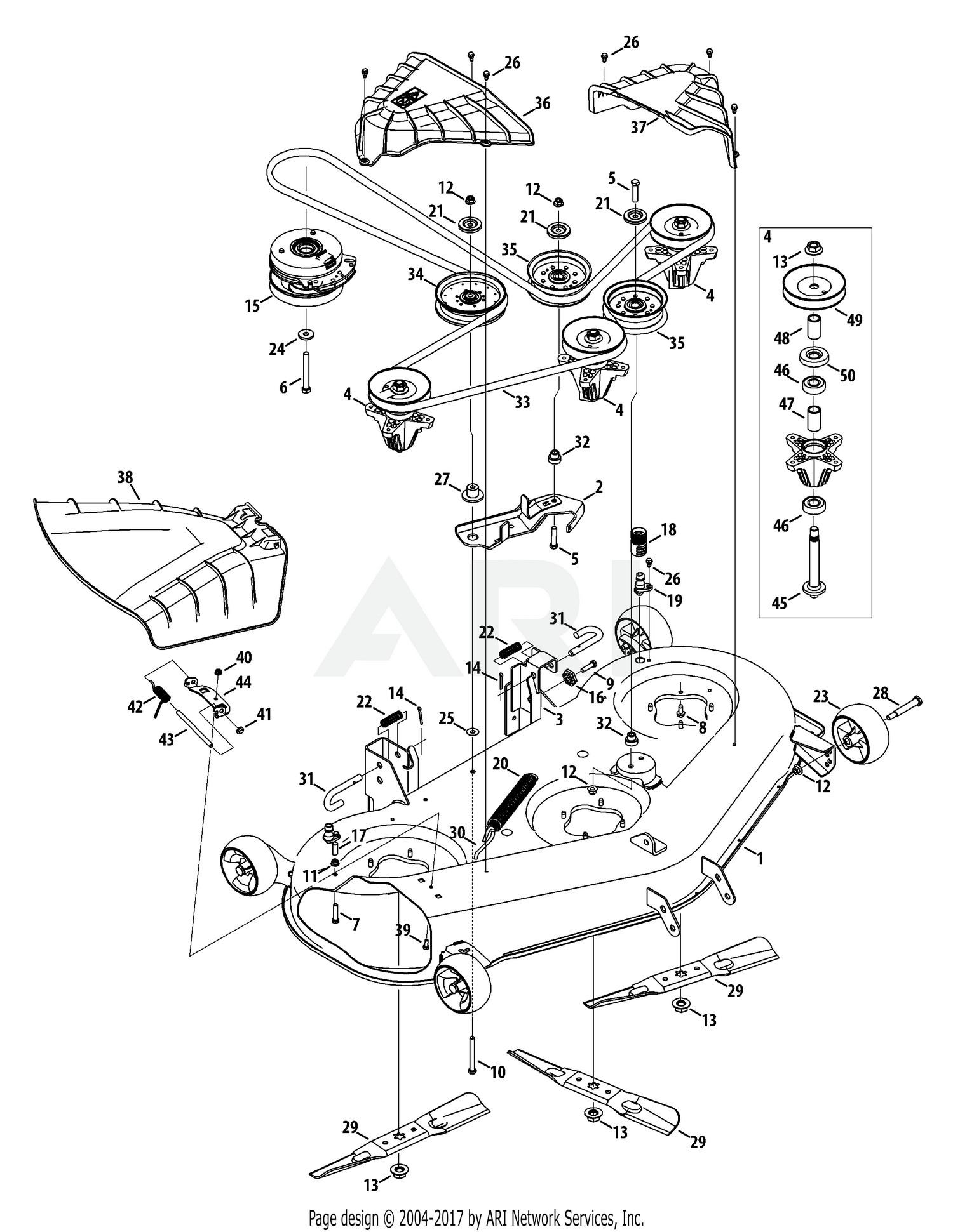 Troy Bilt Lawn Mower Engine Diagram Troy Bilt 17arcacq011 Mustang 50 Xp 2015 Mower Deck 50 Inch Of Troy Bilt Lawn Mower Engine Diagram