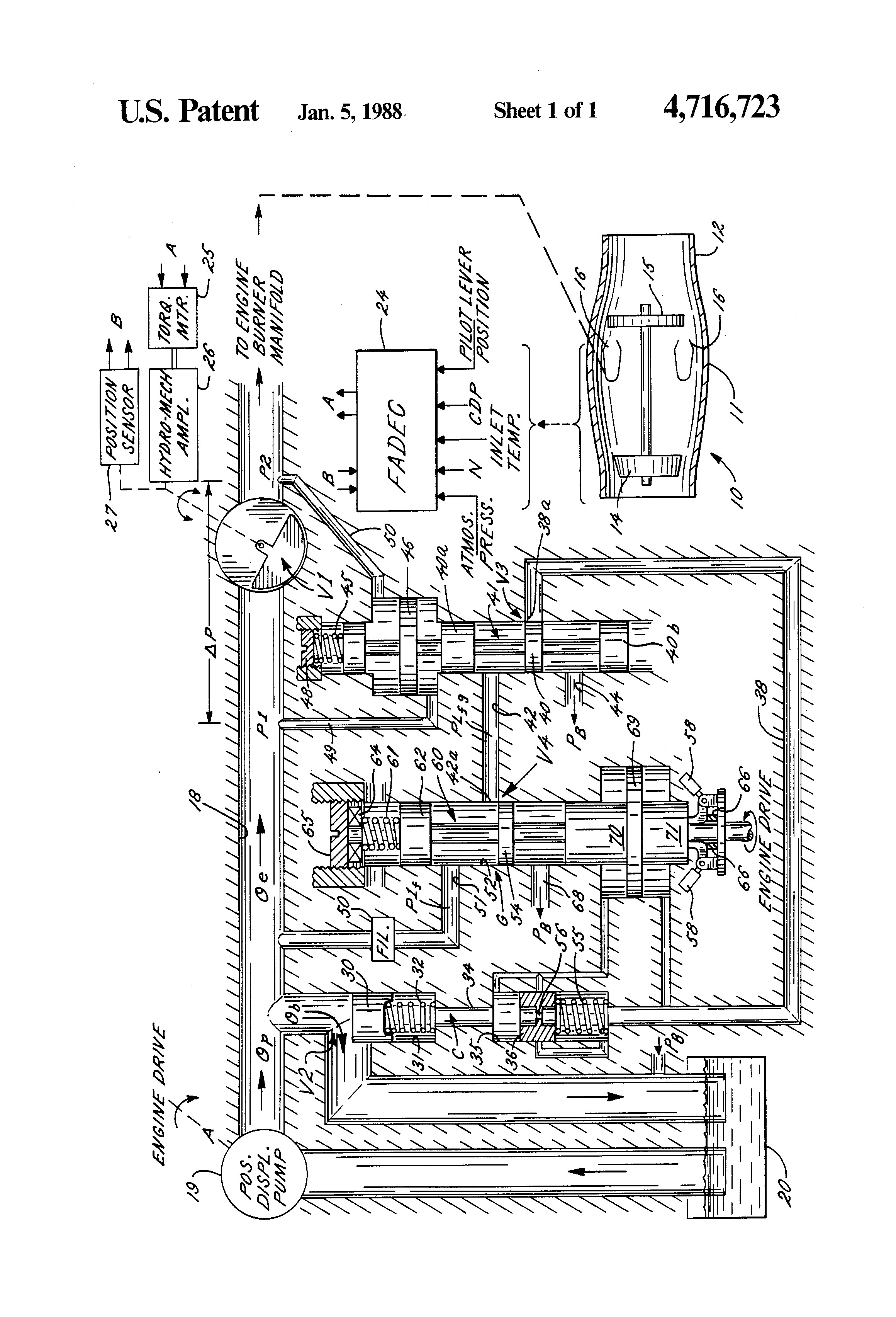 Turbine Engine Diagram Patent Us Fuel Controls for Gas Turbine Engines Google
