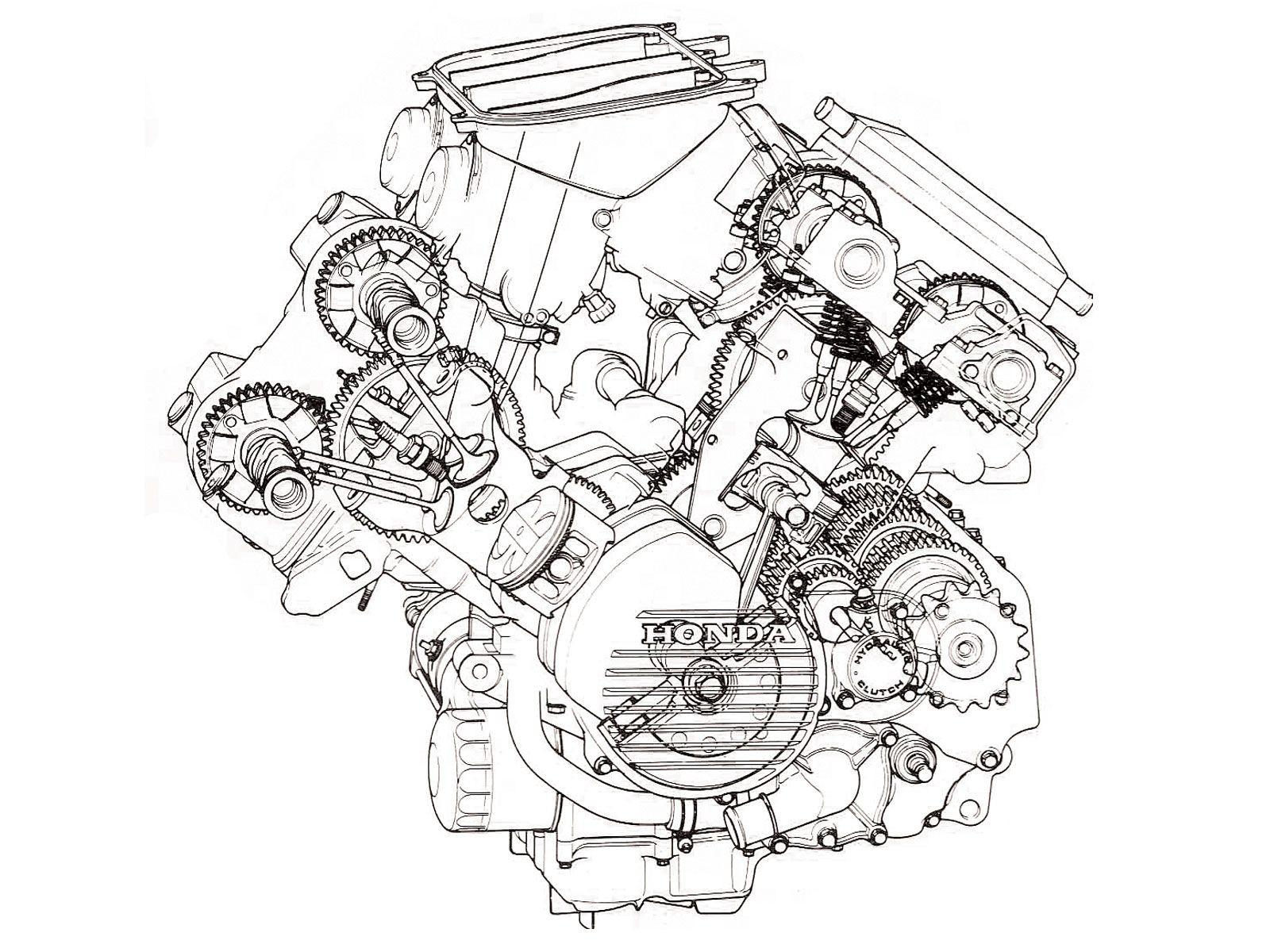 V4 Engine Diagram 1986 Honda Vfr750fg Interceptor V4 Motor Shot Geared Cams Of V4 Engine Diagram