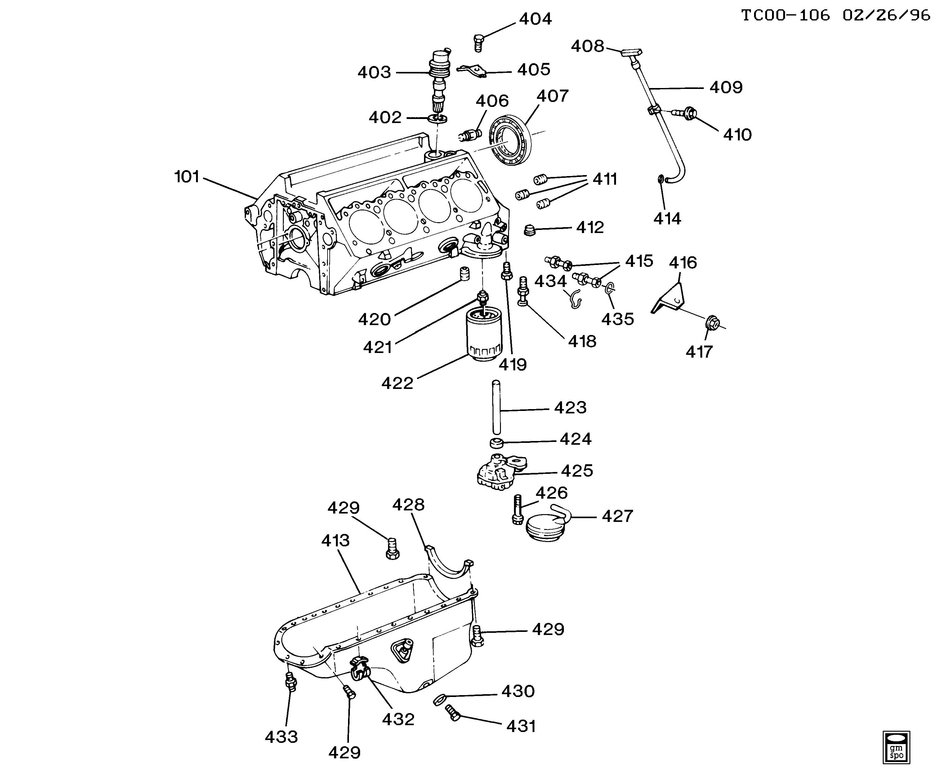 V8 Engine Parts Diagram Blazer 4wd Engine asm 6 5l V8 Sel Part 4 Oil Pump Pan & Of V8 Engine Parts Diagram
