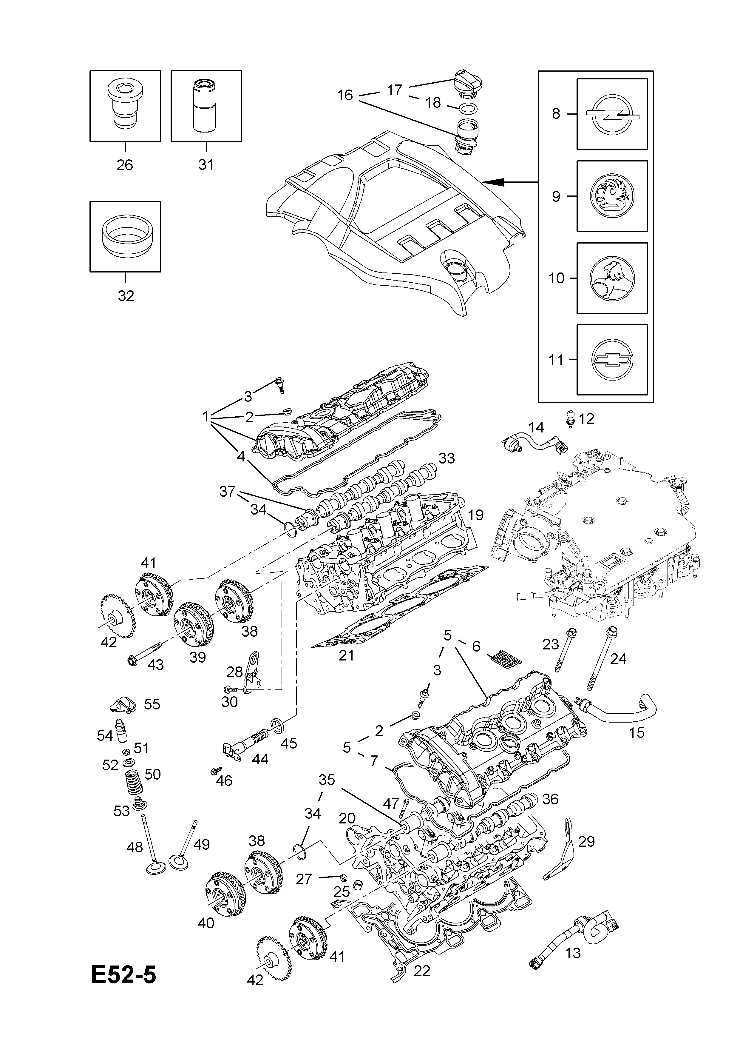valve timing diagram for petrol engine opel vectra c 2002