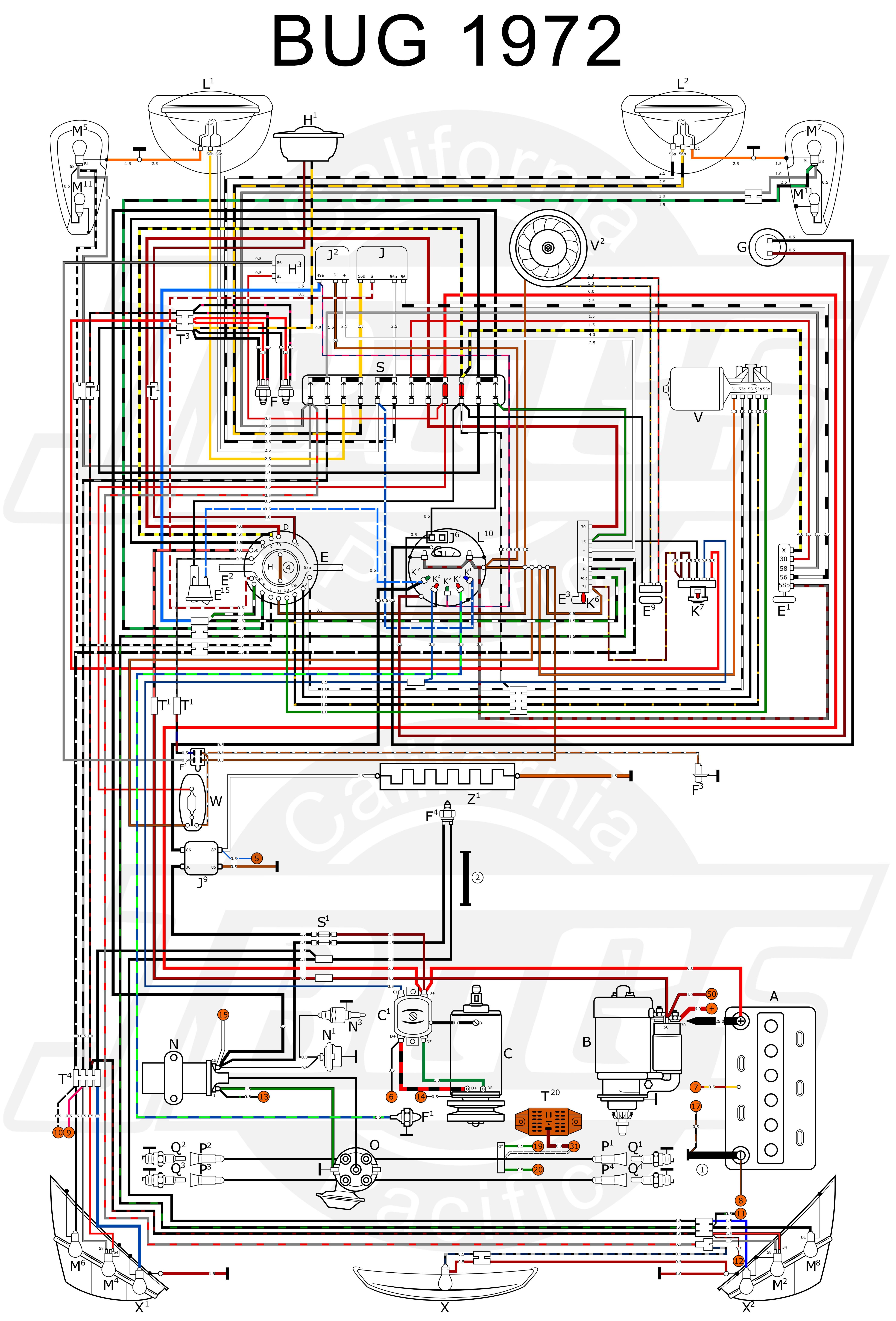 Vw Beetle Wiring Diagram 1970 Beetle Fuse Box Layout Wiring Diagrams • Of Vw Beetle Wiring Diagram