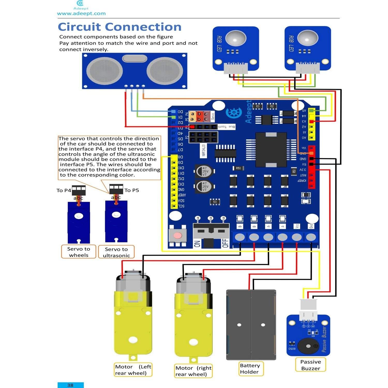 Wireless Remote Control toy Car Circuit Diagram Adeept Smart Car Kit for Arduino Remote Control Car Based On Of Wireless Remote Control toy Car Circuit Diagram